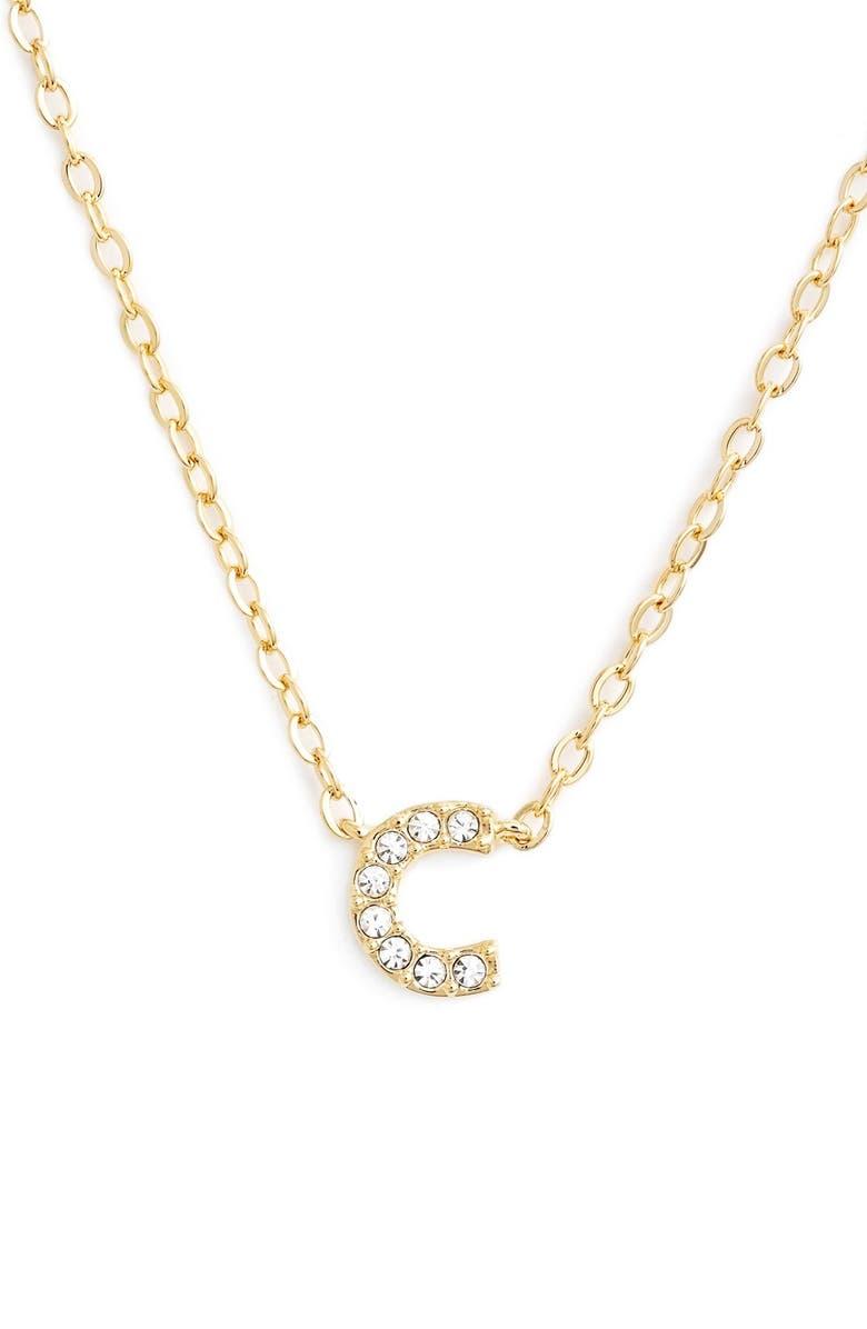 Nadri initial pendant necklace c gold modesens nadri initial pendant necklace c gold aloadofball Choice Image