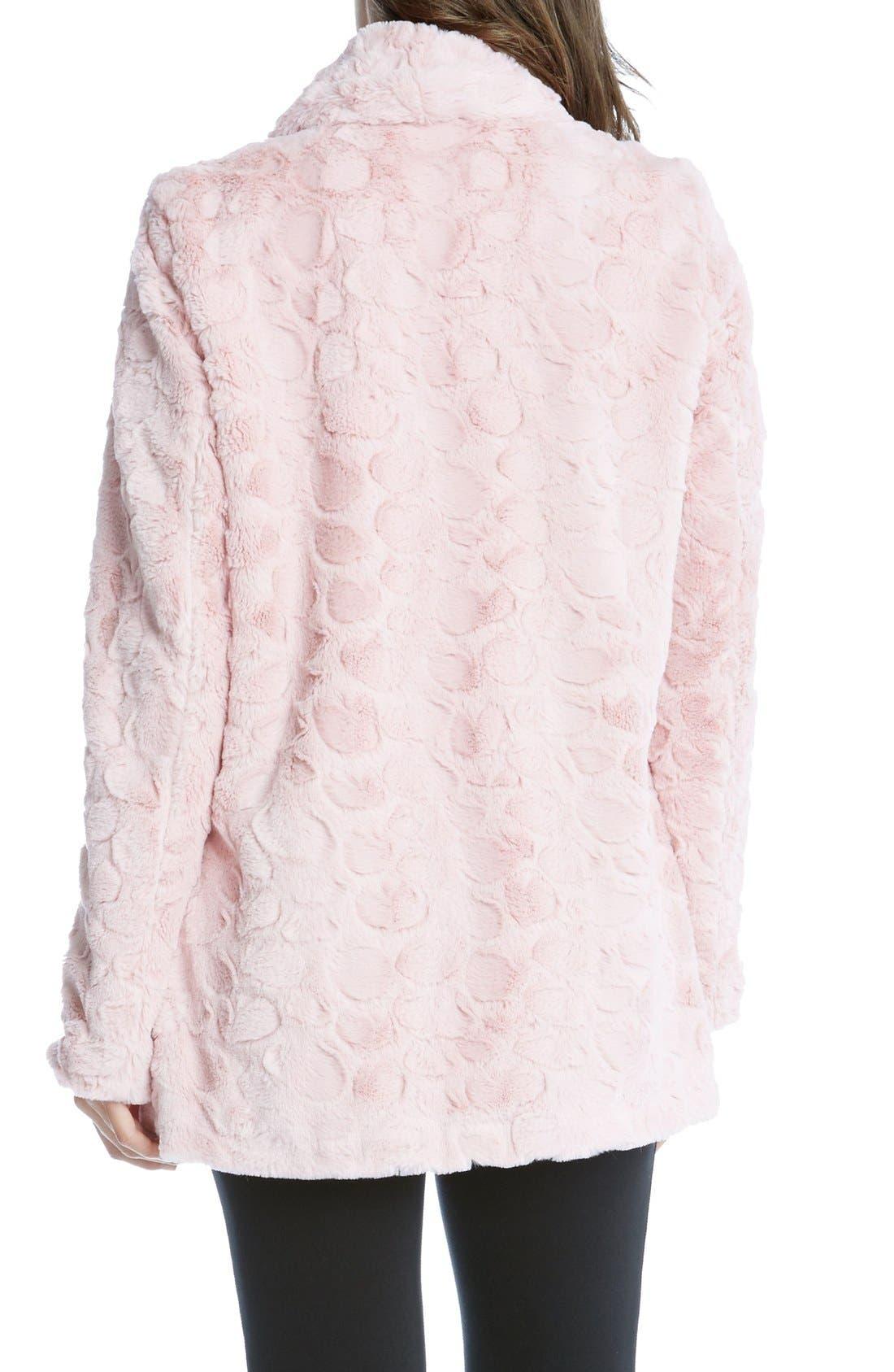 Alternate Image 2  - Karen Kane Faux Fur Coat