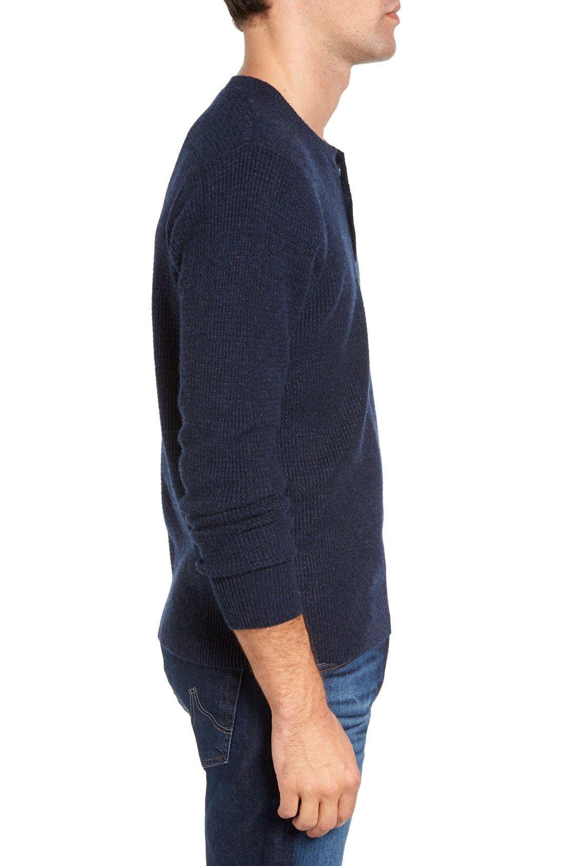 Thermal Henley,                             Alternate thumbnail 3, color,                             Navy