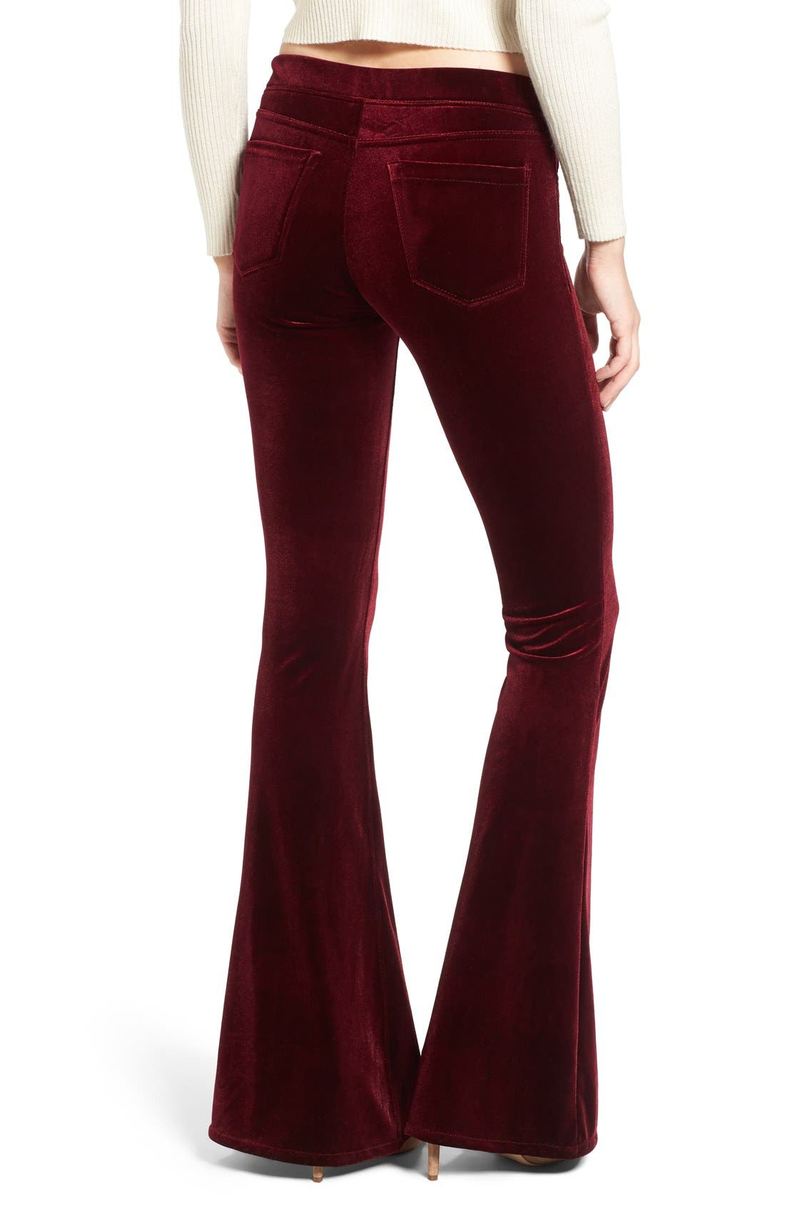 Alternate Image 2  - BLANKNYC Velvet Flare Pants