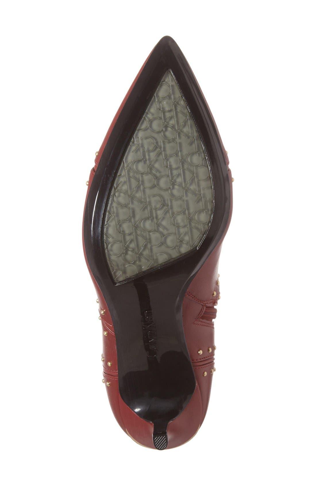 Alternate Image 4  - Calvin Klein Grazie Studded Pointy Toe Bootie (Women)