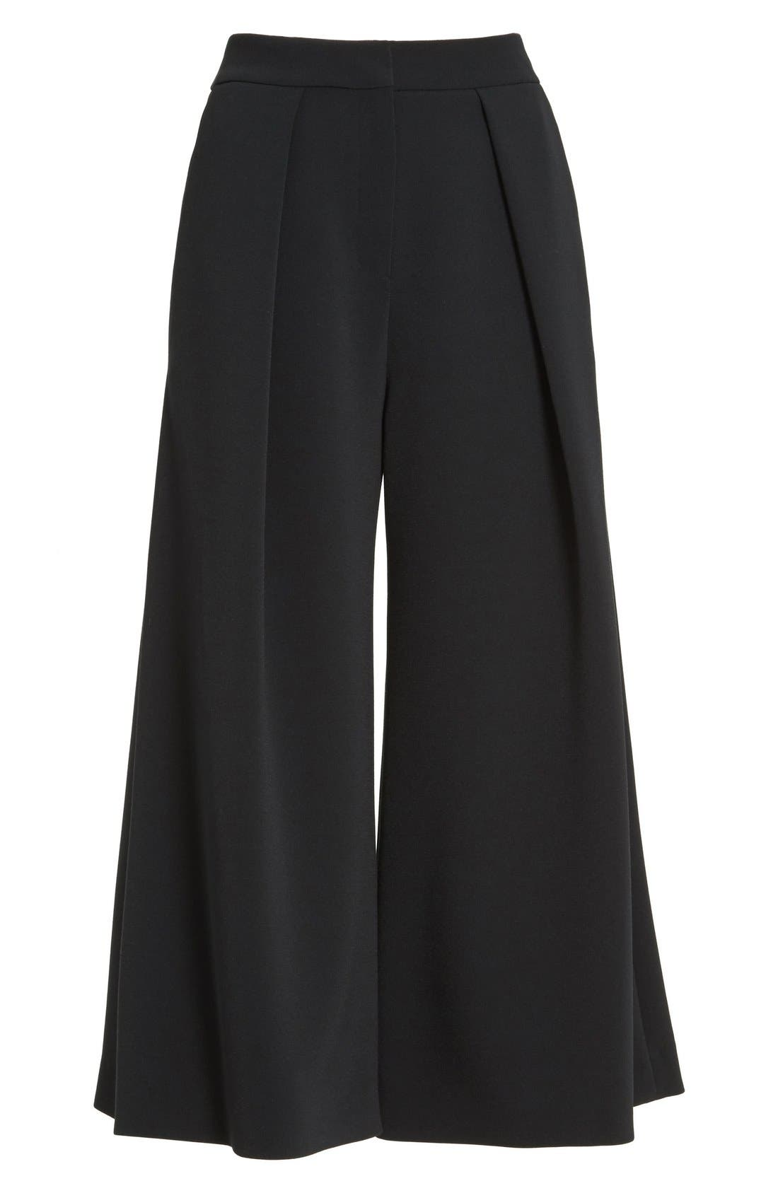 Devon Culottes,                             Alternate thumbnail 4, color,                             Black
