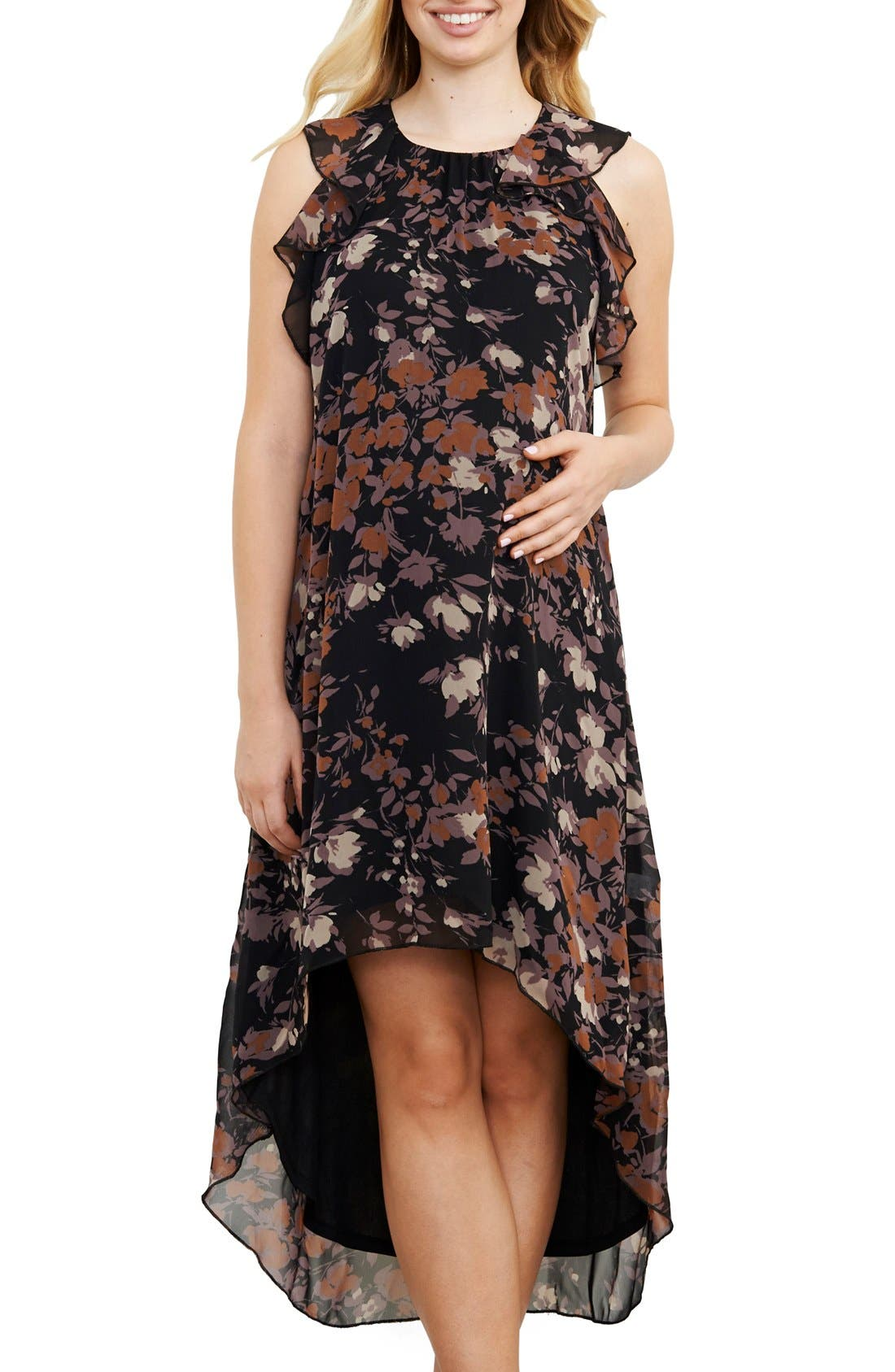 Maternal American Ruffle Maternity Dress