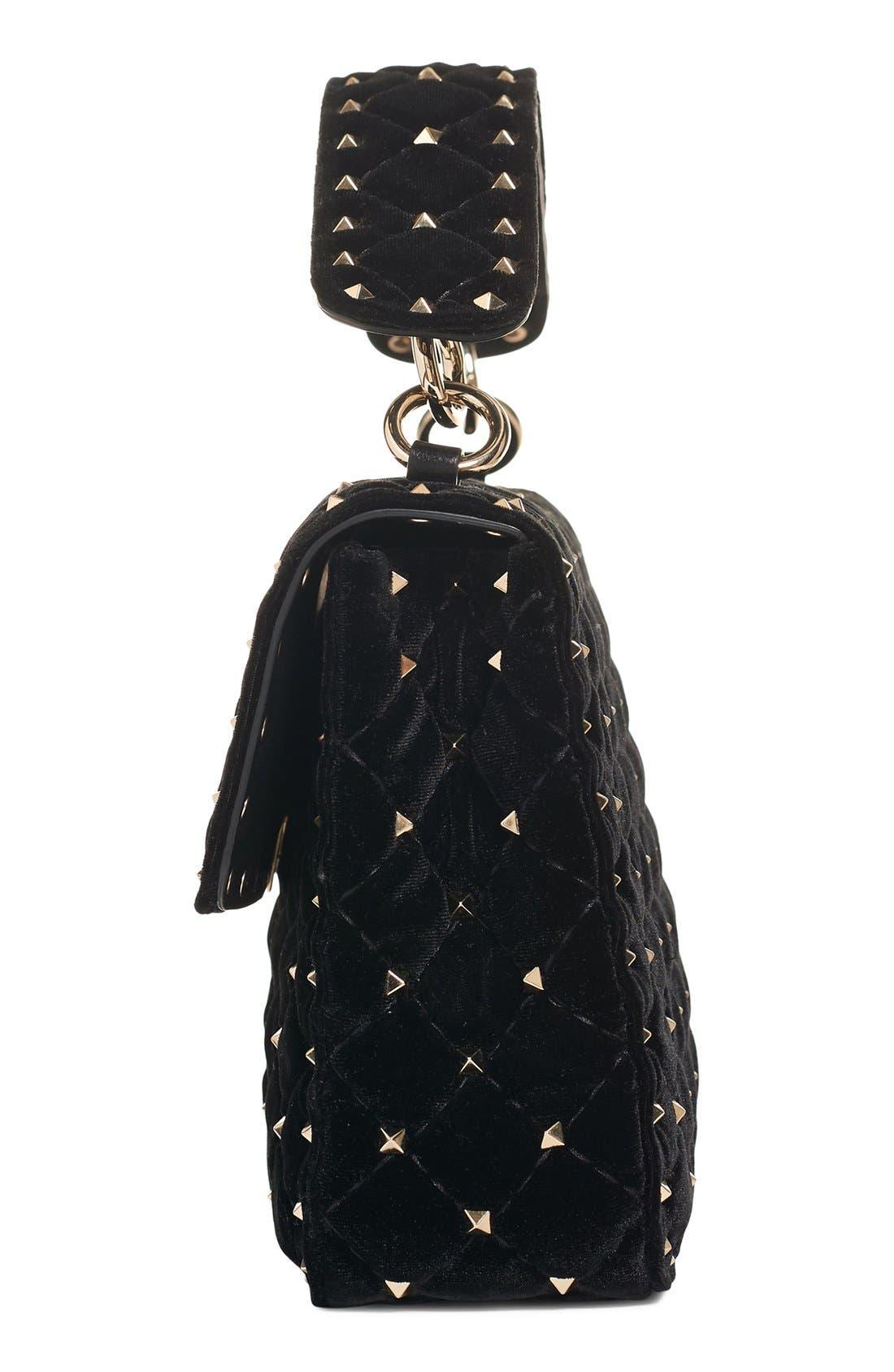 Alternate Image 4  - VALENTINO GARAVANI Rockstud Quilted Leather Shoulder Bag
