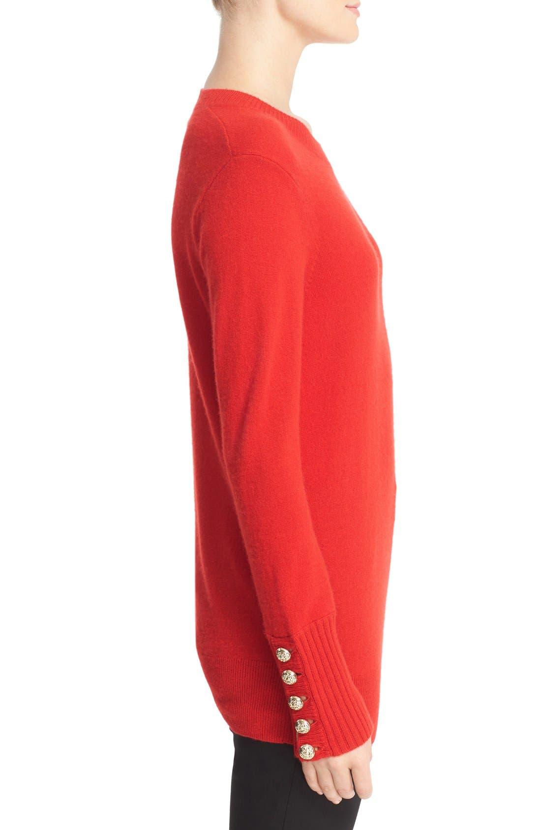 Alternate Image 3  - Burberry Meesebrook Cashmere Sweater