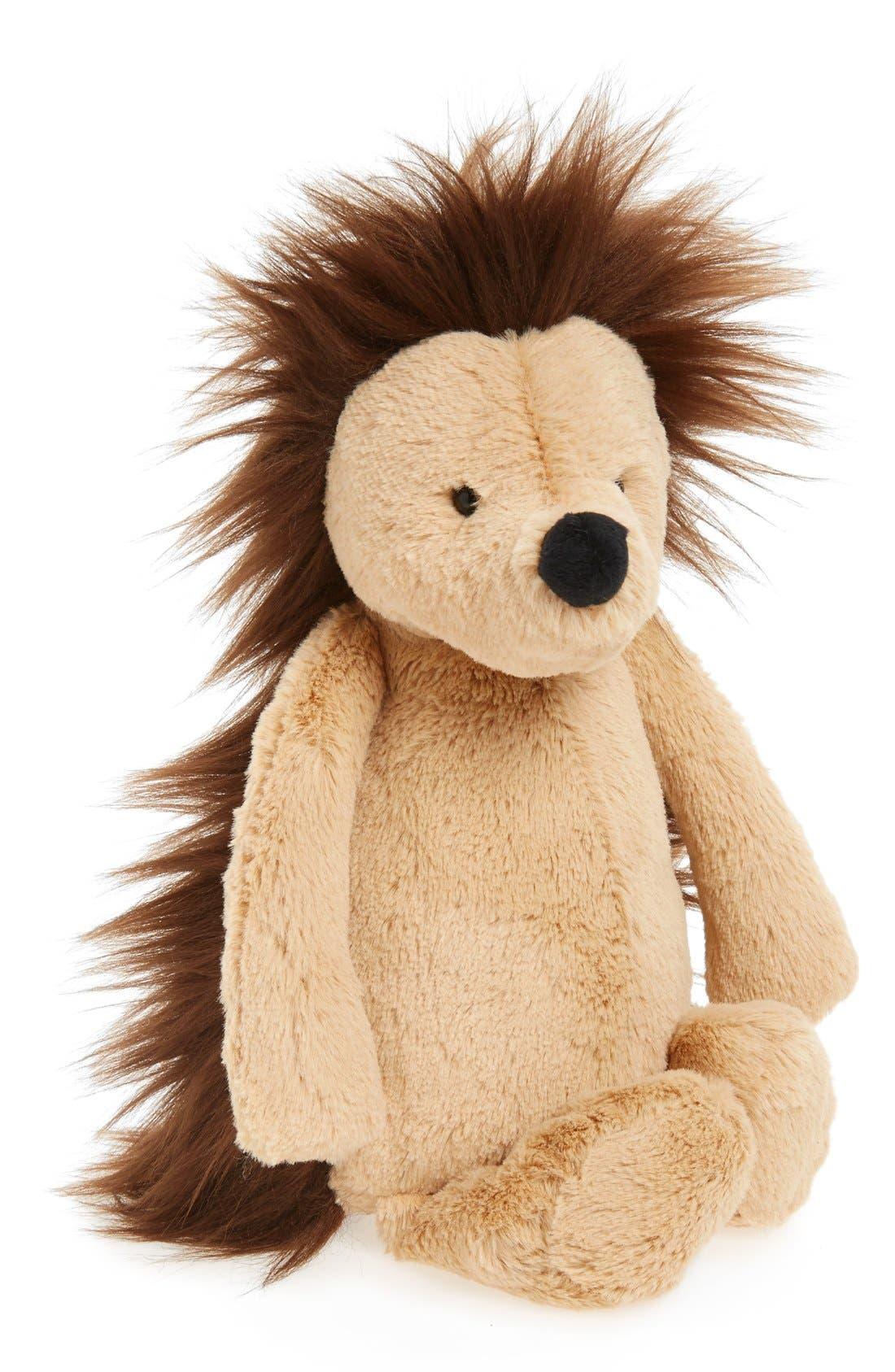 Medium Bashful Hedgehog Stuffed Animal,                             Main thumbnail 1, color,                             Tan