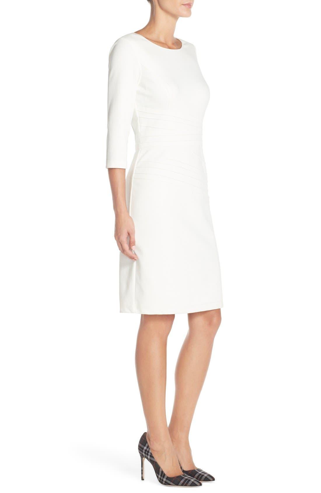 Alternate Image 3  - Ellen Tracy Seamed PonteSheath Dress (Regular & Petite)