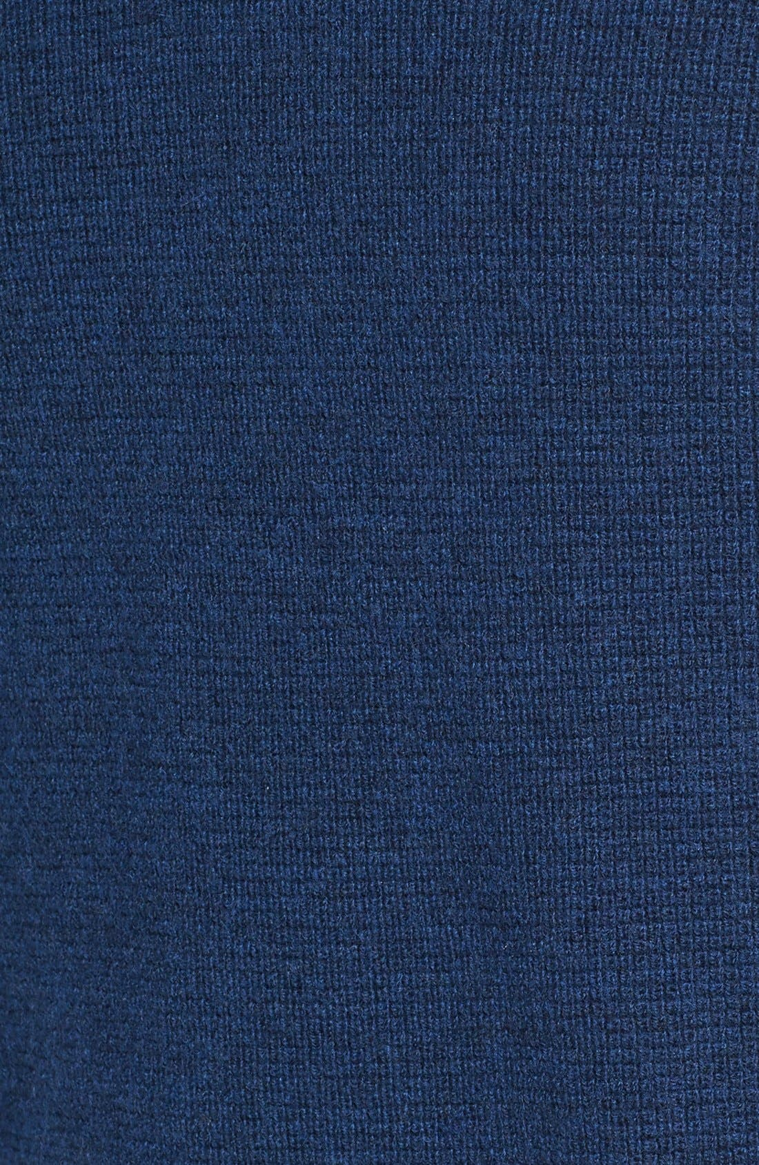 V-Neck Colorblock Merino Wool Pullover,                             Alternate thumbnail 5, color,                             Blue