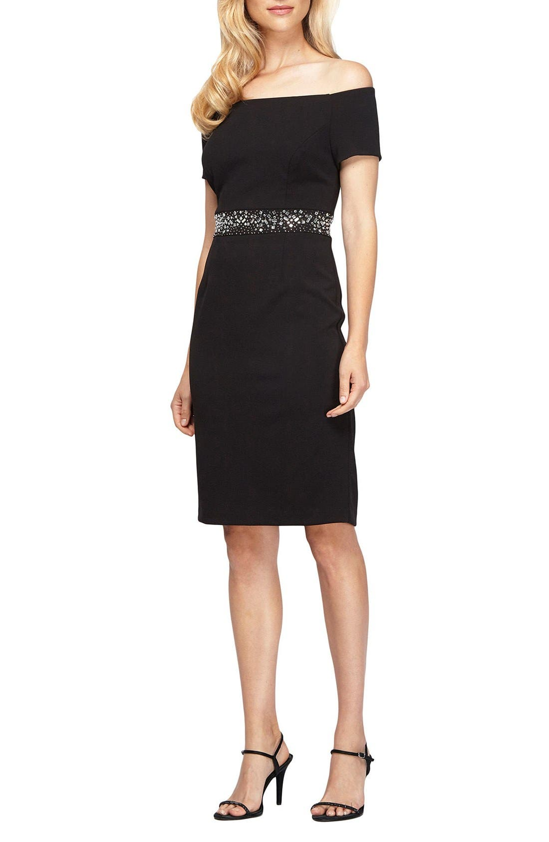 Alternate Image 3  - Alex Evenings Embellished Stretch Dress