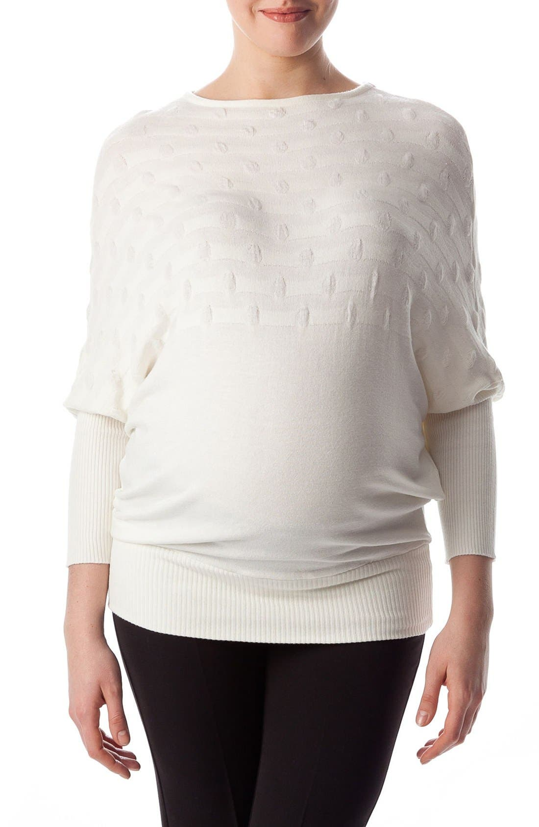 Megeve Maternity Top,                             Main thumbnail 1, color,                             Cream White