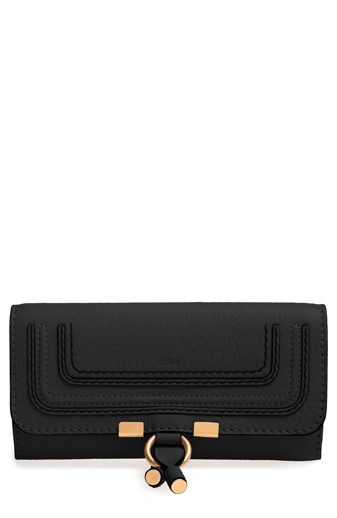 Main Image - Chloé 'Marcie - Long' Leather Flap Wallet