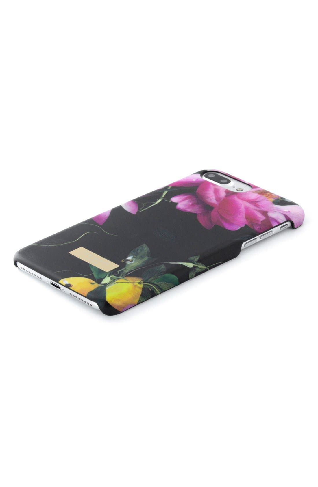 Citrus Bloom iPhone 6/6s/7/8 & 6/6s/7/8 Plus Case,                             Alternate thumbnail 4, color,                             Black