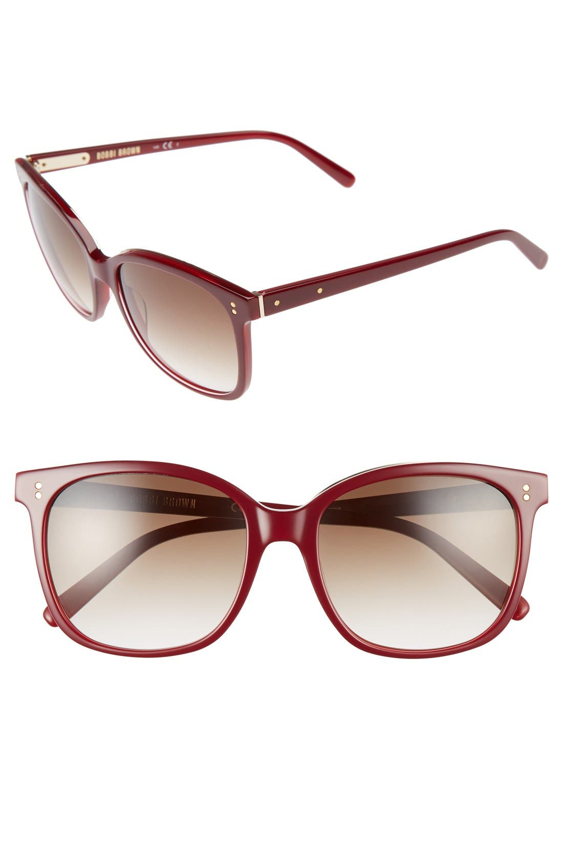 The Whitner 54mm Sunglasses,                         Main,                         color, Red