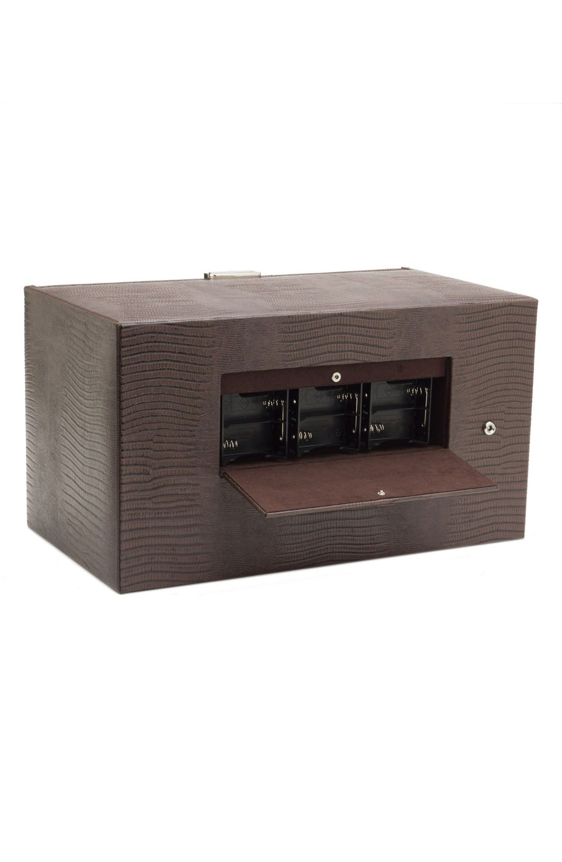Alternate Image 3  - Wolf Blake Triple Watch Winder & Case