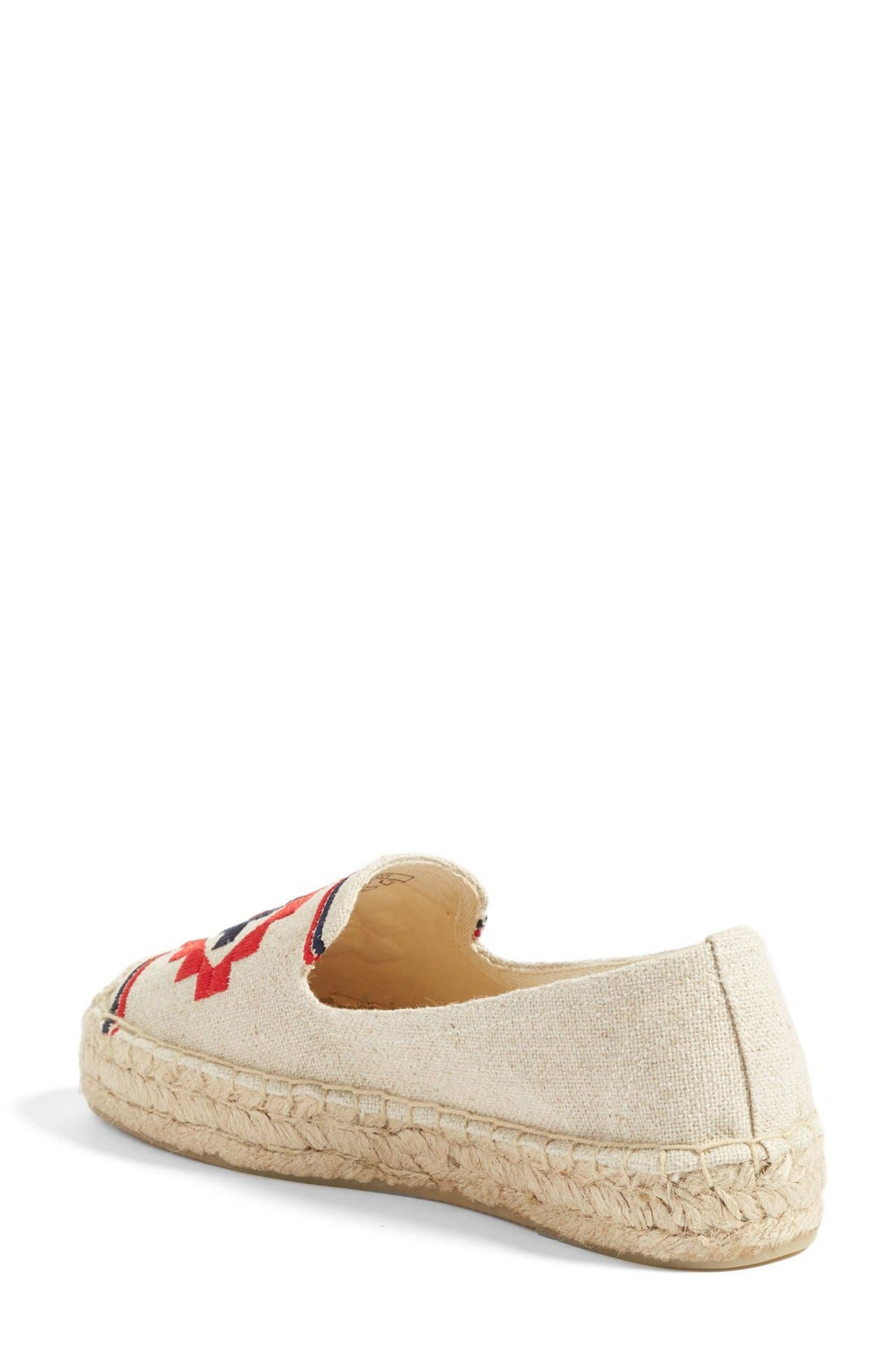 Embroidered Espadrille,                             Alternate thumbnail 2, color,                             Sand