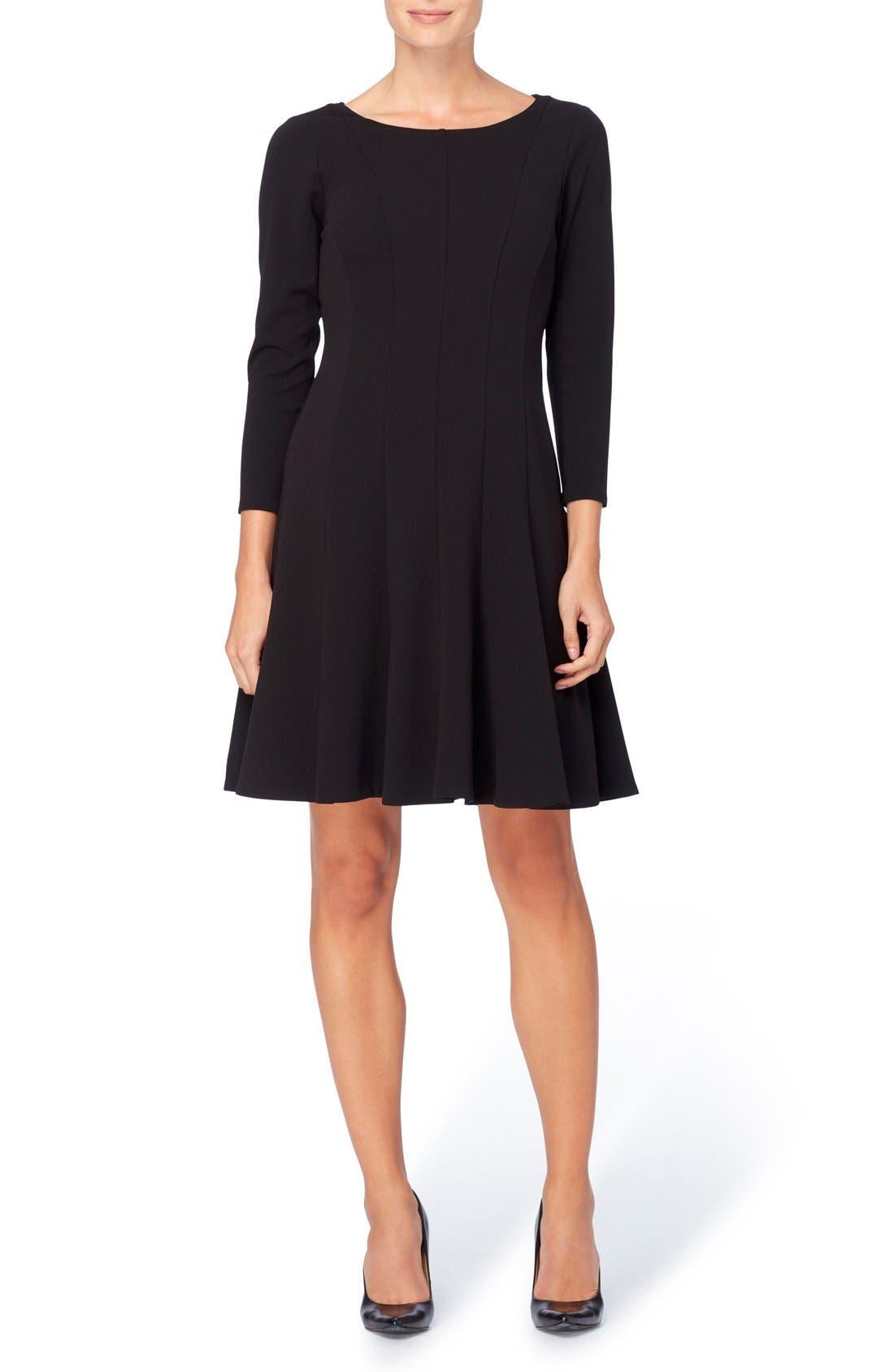 Linova Fit & Flare Dress,                             Main thumbnail 1, color,                             Blackbird