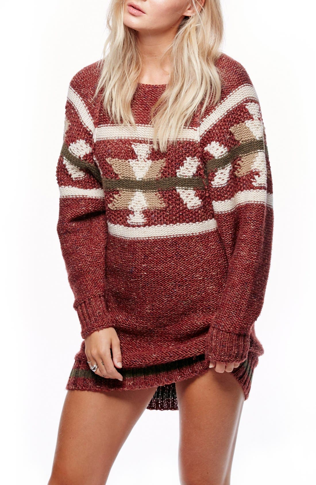 Alternate Image 1 Selected - Free People Northern Lights Sweater Dress