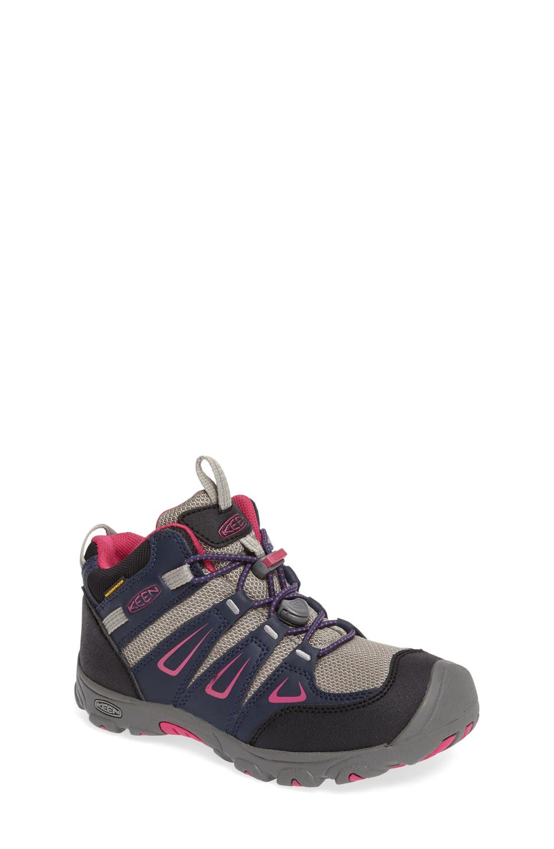'Oakridge' Waterproof Hiking Boot,                             Main thumbnail 1, color,                             Blue/ Berry