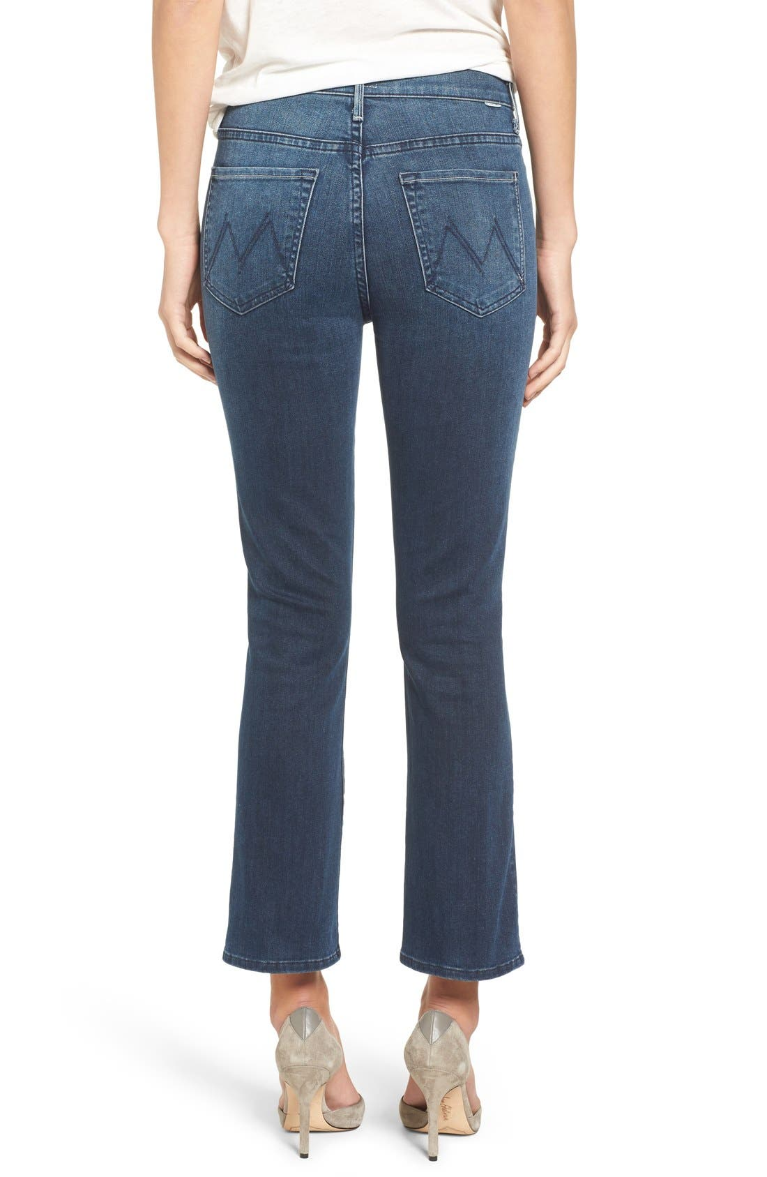 Alternate Image 2  - MOTHER The Insider High Rise Crop Bootcut Jeans (Repeating Love)