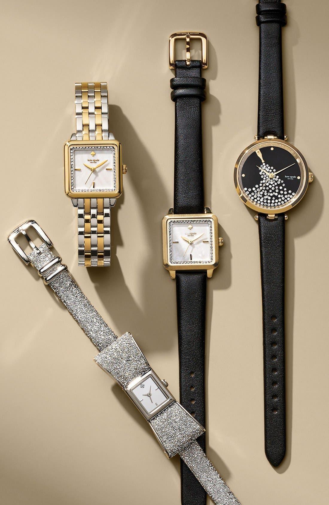 Alternate Image 4  - kate spade new york 'washington' square leather strap watch, 25mm