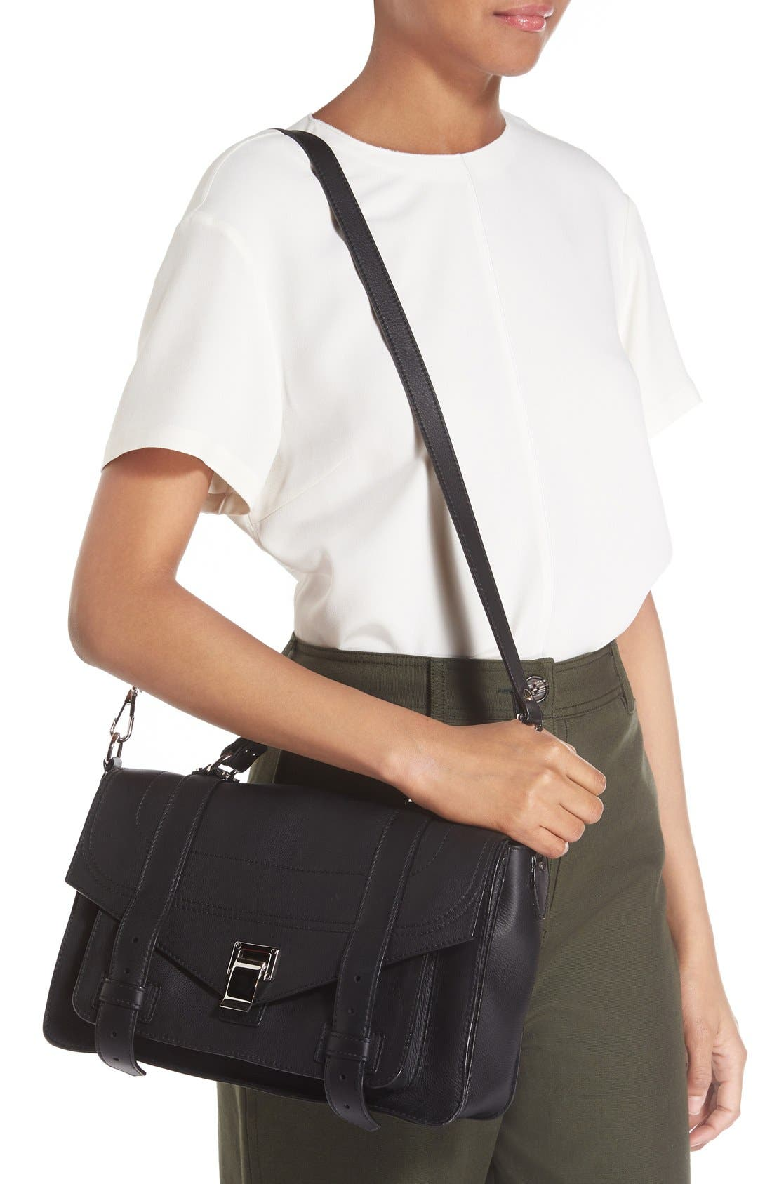 Alternate Image 2  - Proenza Schouler Medium PS1+ Grainy Leather Satchel