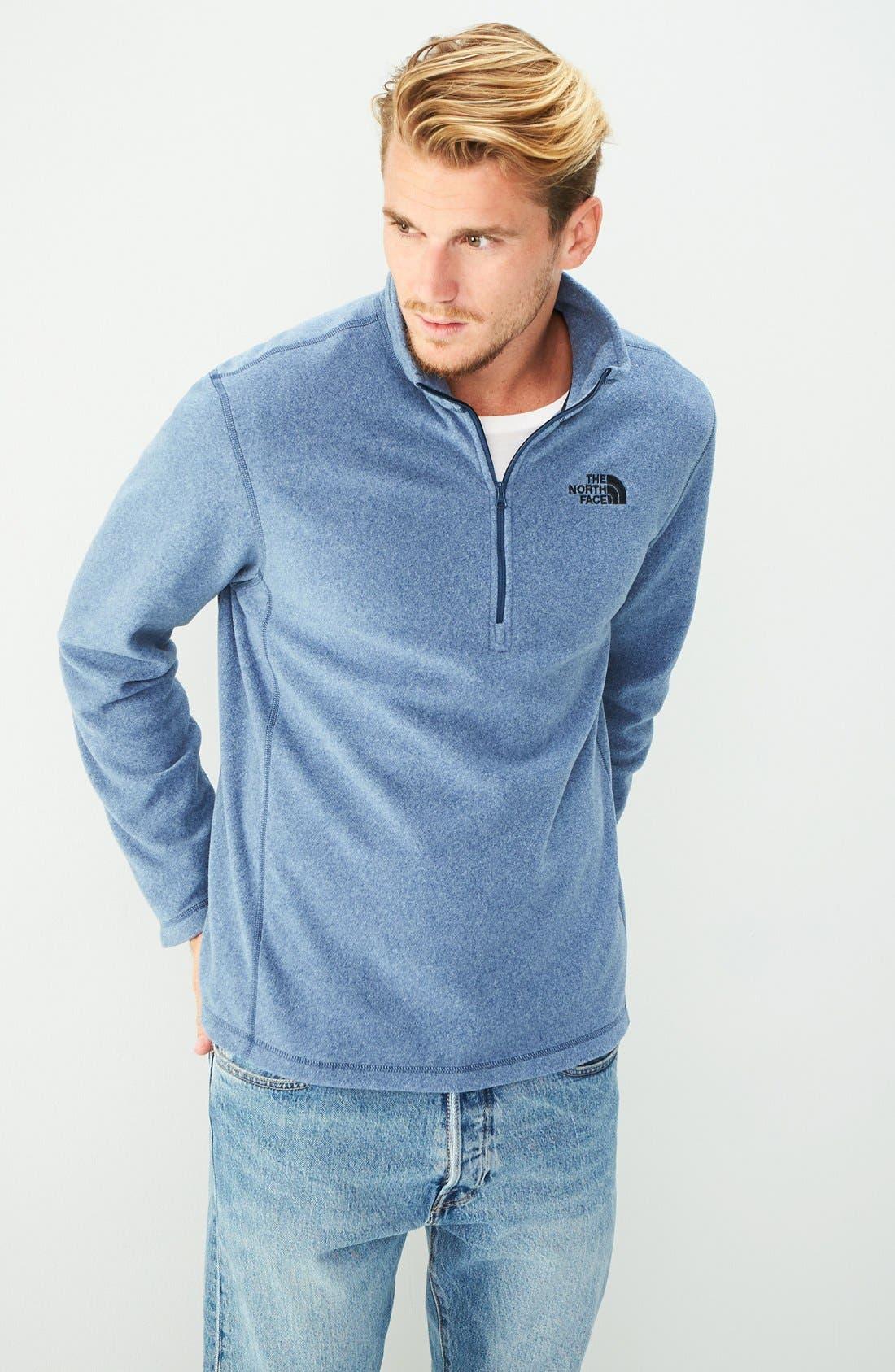 'TKA 100 Glacier' Quarter Zip Fleece Pullover,                             Alternate thumbnail 10, color,