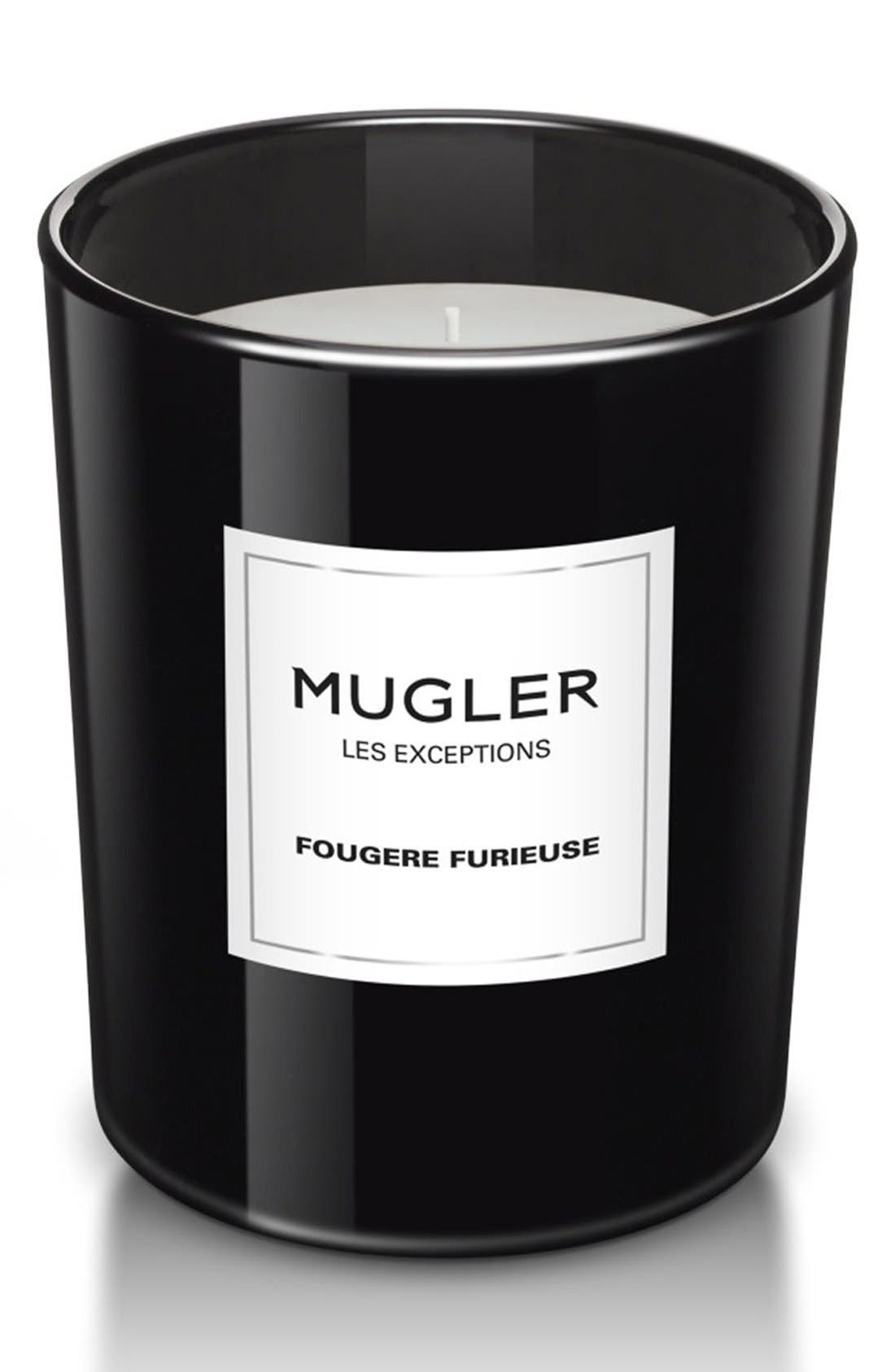 Mugler 'Les Exceptions - Fougere Furieuse' Candle,                         Main,                         color, No Color