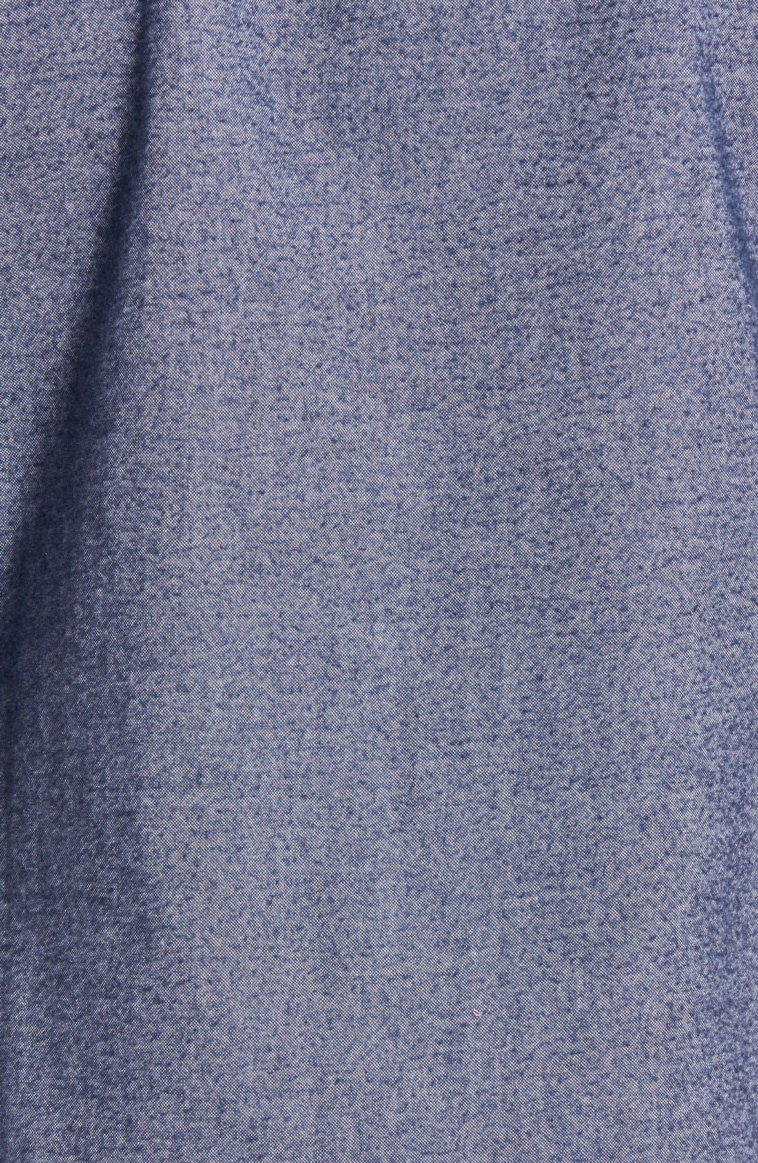 Alternate Image 5  - 1901 Baker Trim Fit Oxford Shirt