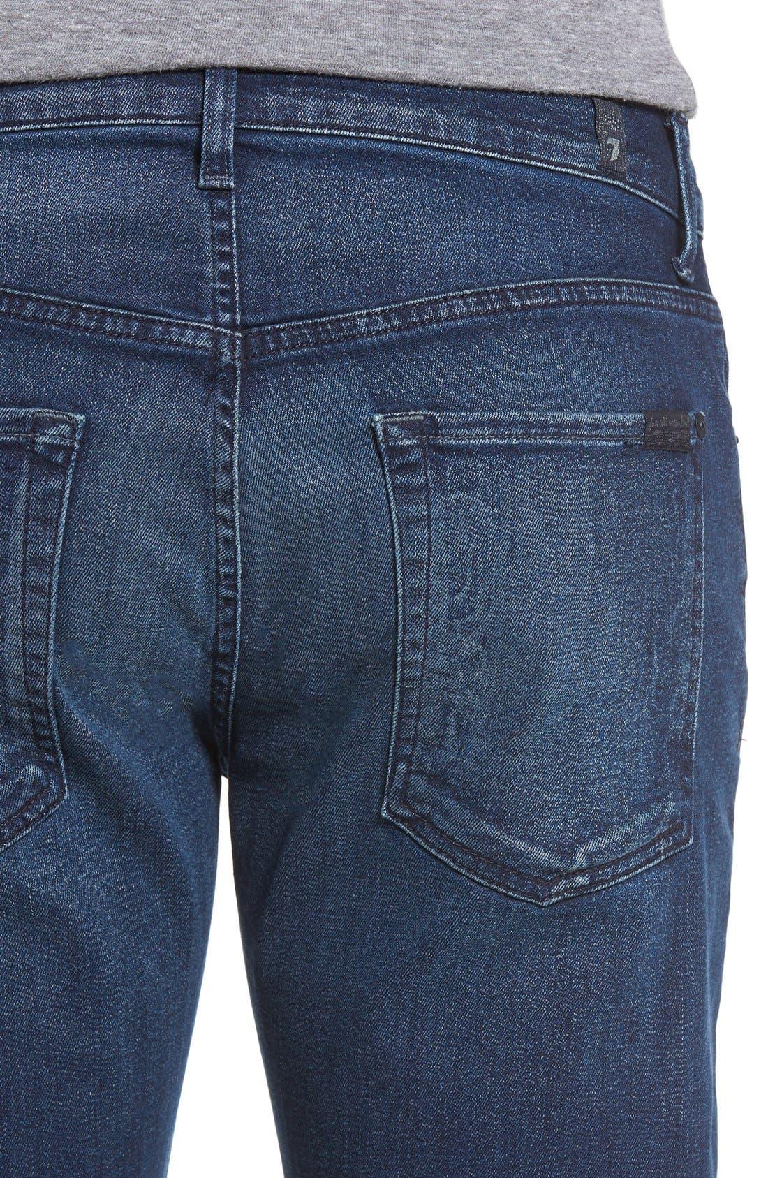Slimmy Luxe Performance Slim Fit Jeans,                             Alternate thumbnail 4, color,                             Belfast