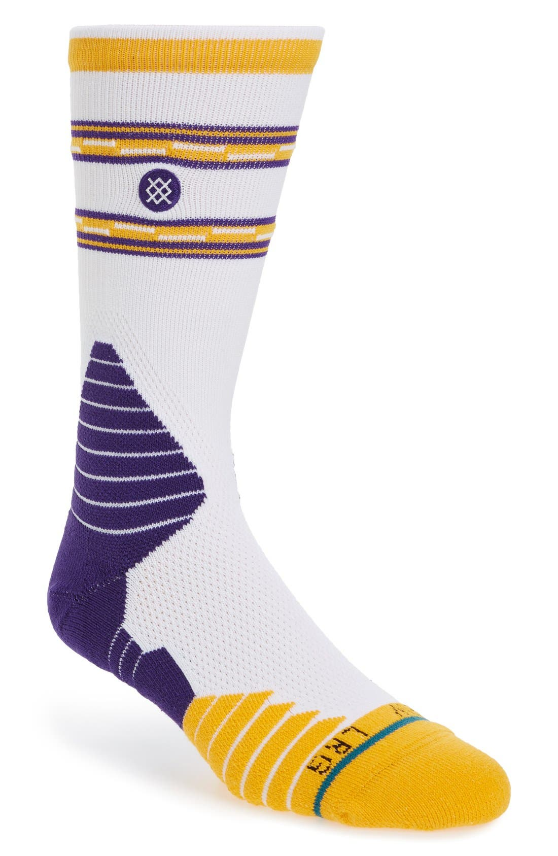 STANCE NBA On Court Lakers Core Crew Socks