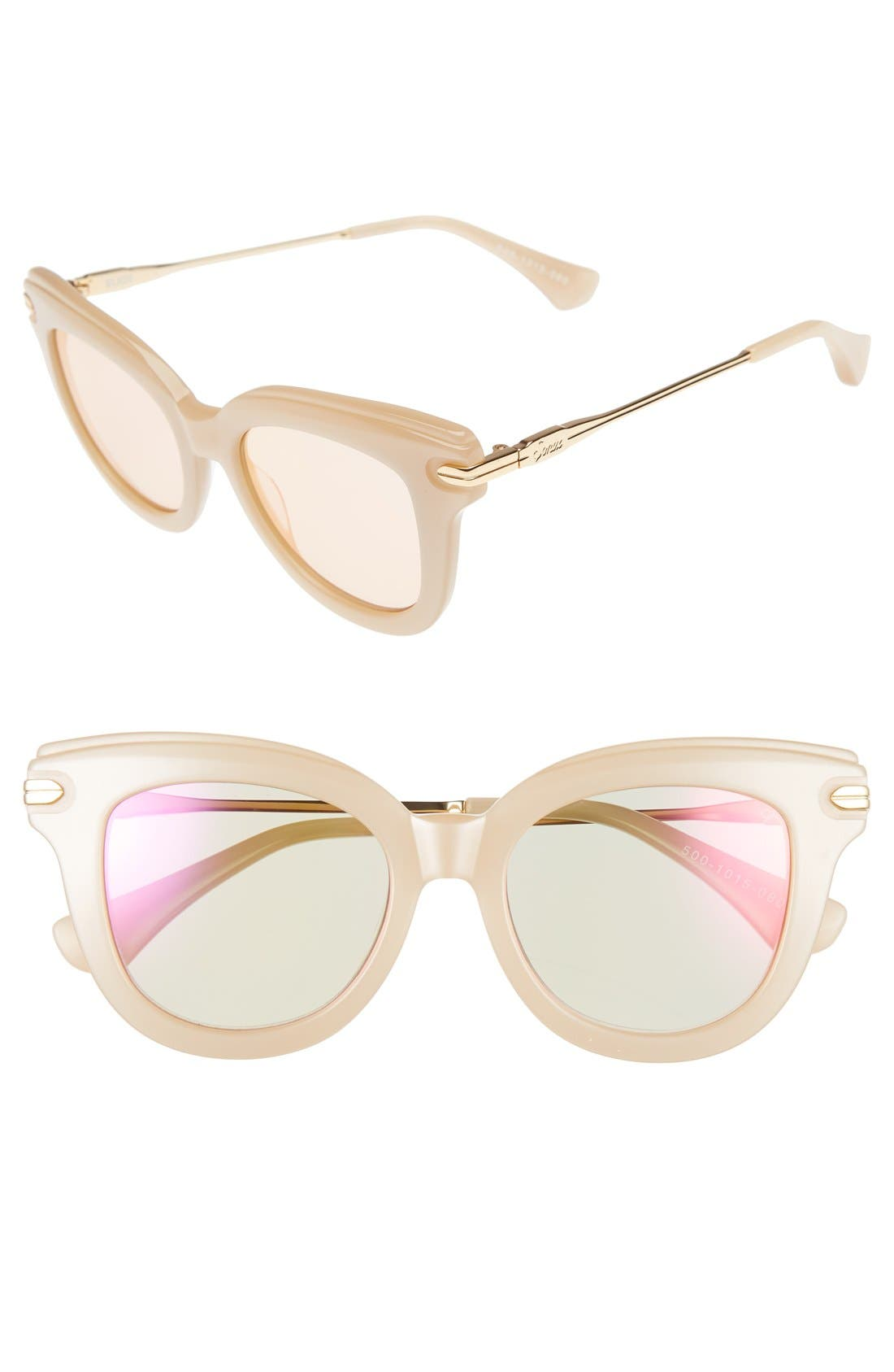 Elliot 48mm Cat Eye Gradient Sunglasses,                         Main,                         color, Translucent Mirror/ Nude