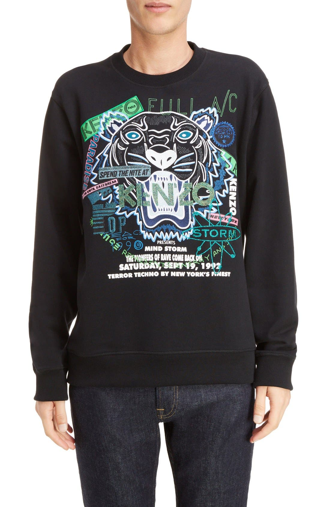 Alternate Image 1 Selected - KENZO Embroidered Graphic Sweatshirt