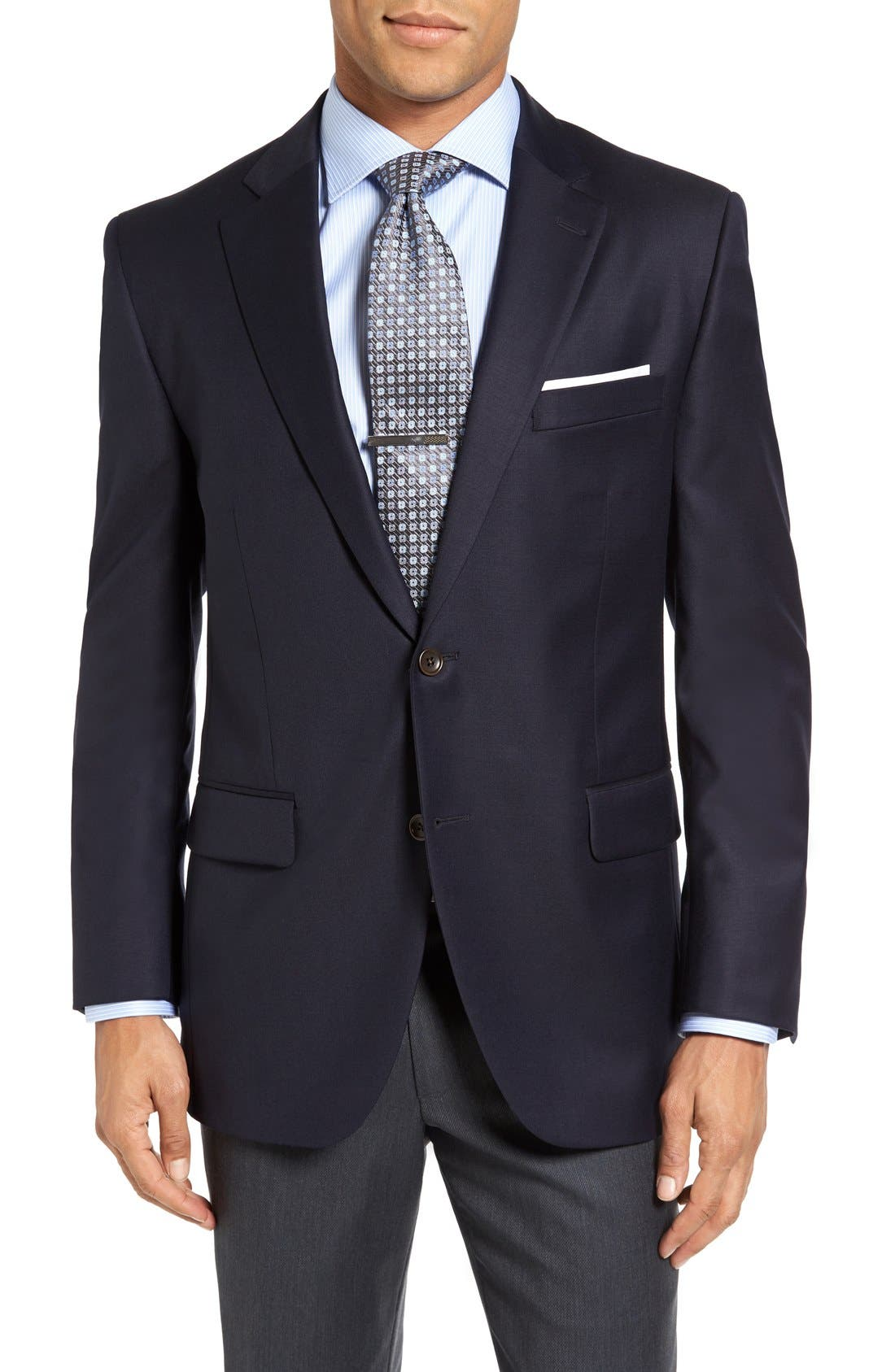 Alternate Image 1 Selected - Peter Millar 'Flynn' Classic Fit Navy Wool Blazer