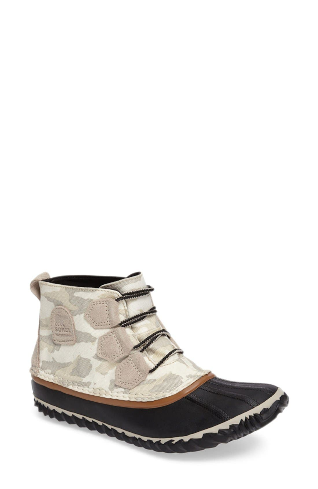 Alternate Image 1 Selected - SOREL Out 'n' About Waterproof Duck Boot (Women)