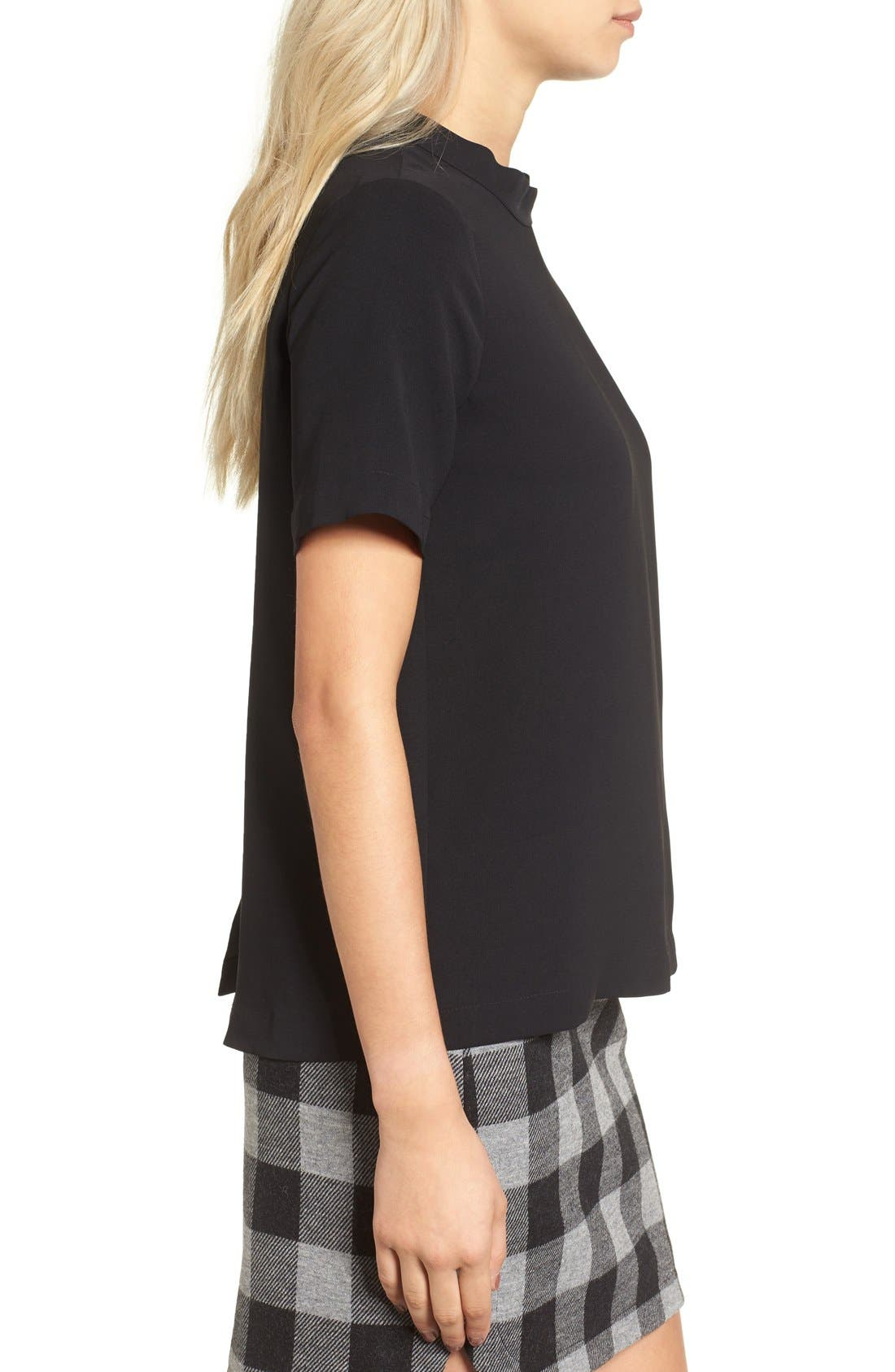 Alternate Image 3  - Madewell Back Button Crepe Tee