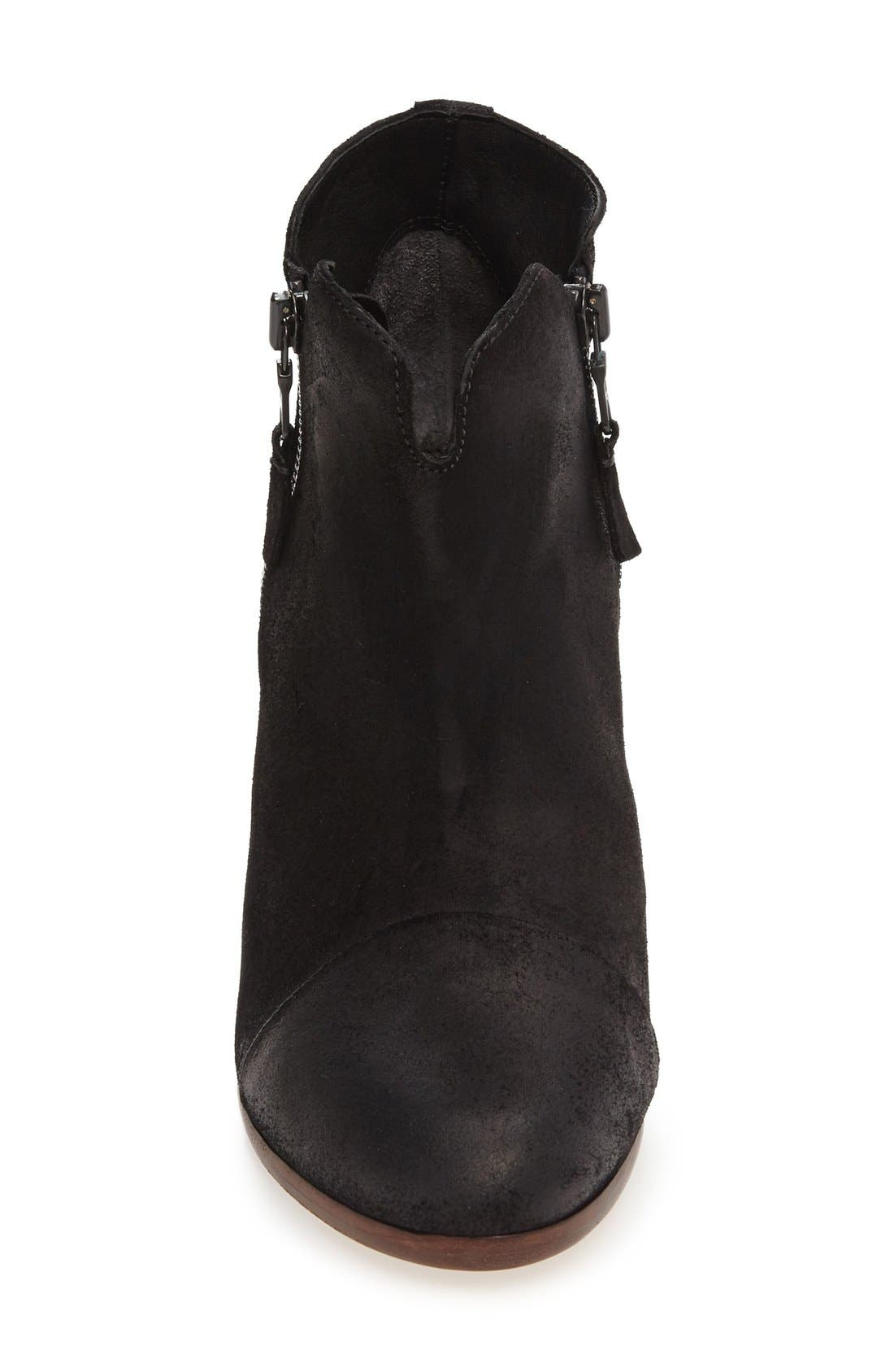 Margot Bootie,                             Alternate thumbnail 9, color,                             Black Waxed Suede