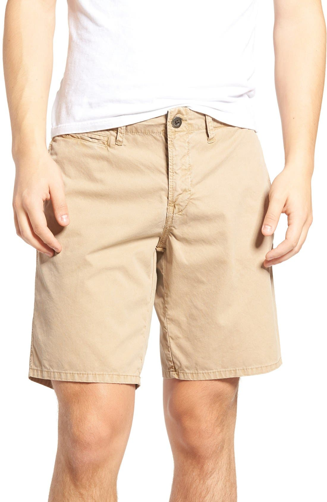 St. Martin Bedford Cord Shorts,                         Main,                         color, Khaki