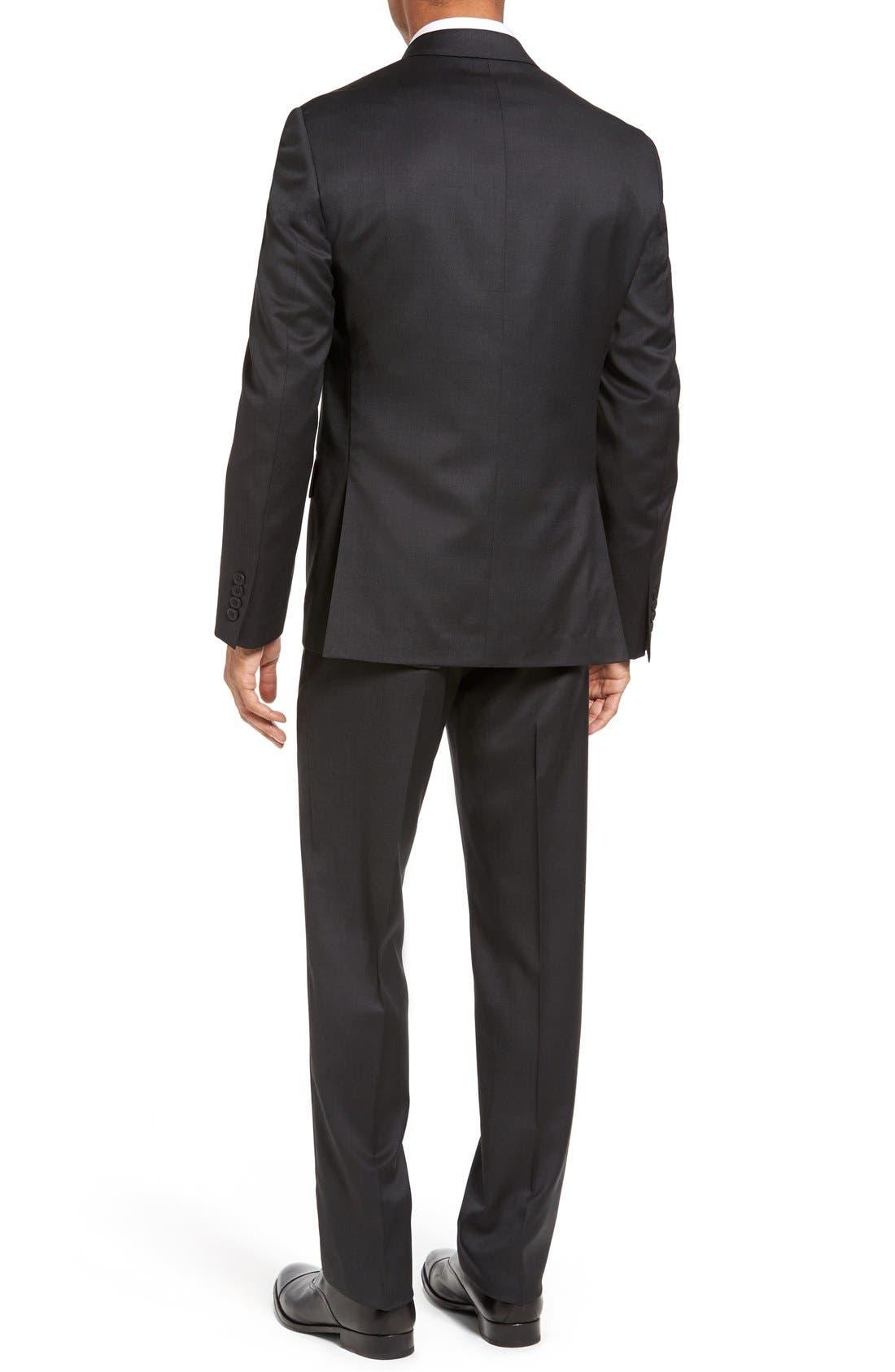 Alternate Image 2  - Nordstrom Men's Shop Classic Fit Solid Wool Suit