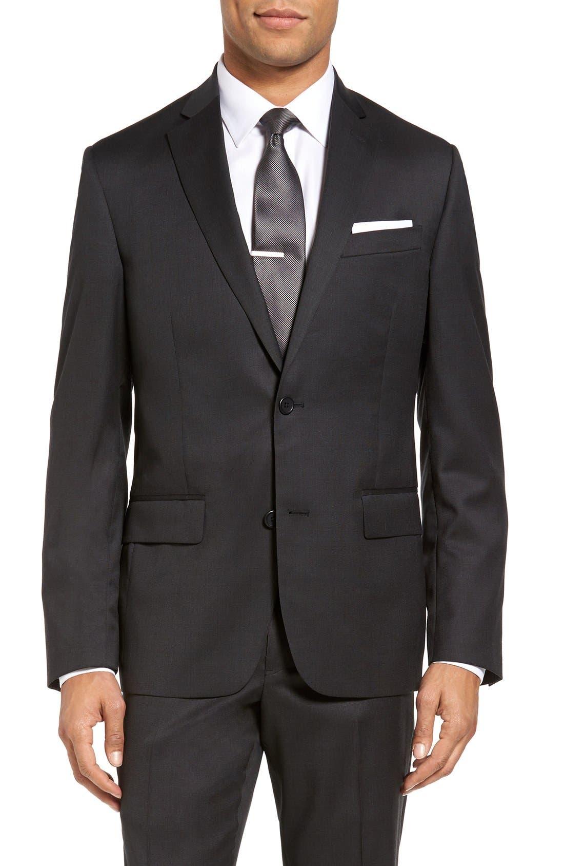 Alternate Image 4  - Nordstrom Men's Shop Classic Fit Solid Wool Suit