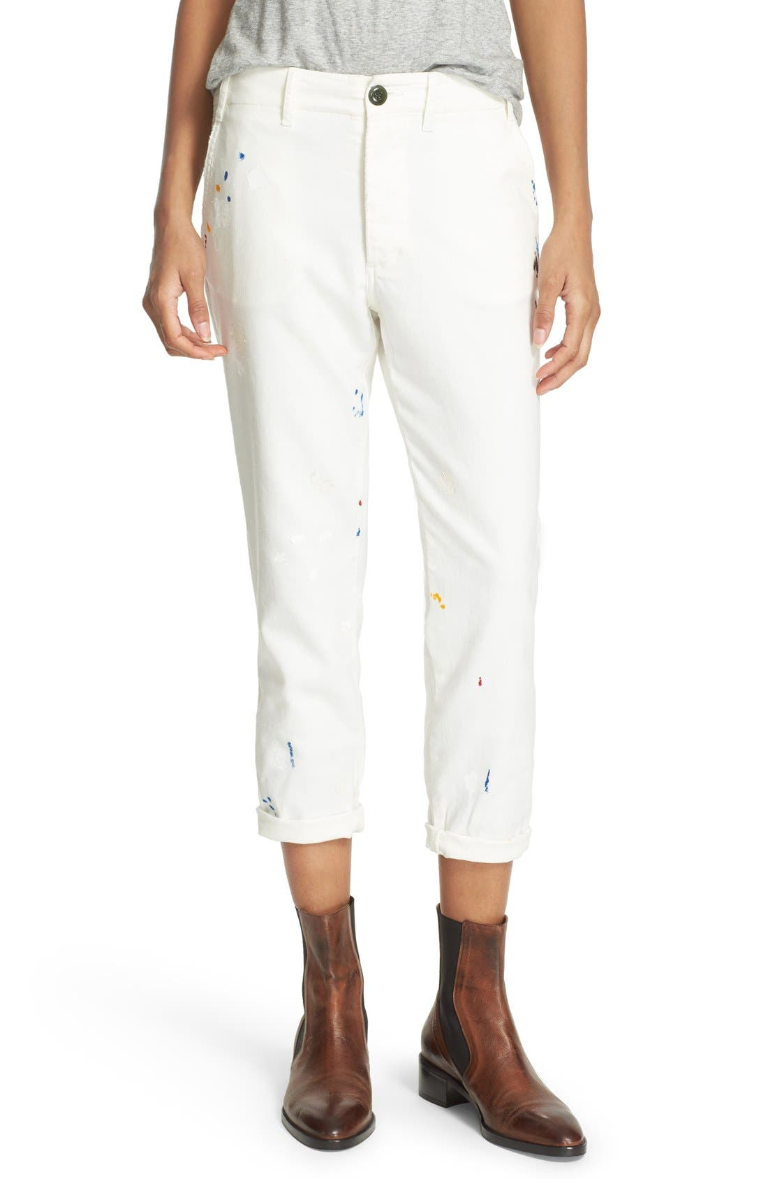 Alternate Image 1 Selected - THE GREAT. The Miner Crop Trousers