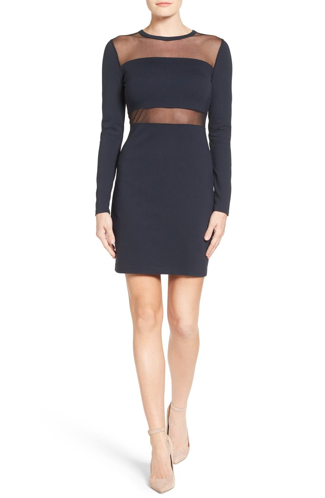 Main Image - MICHAEL Michael Kors Mesh Panel Sheath Dress