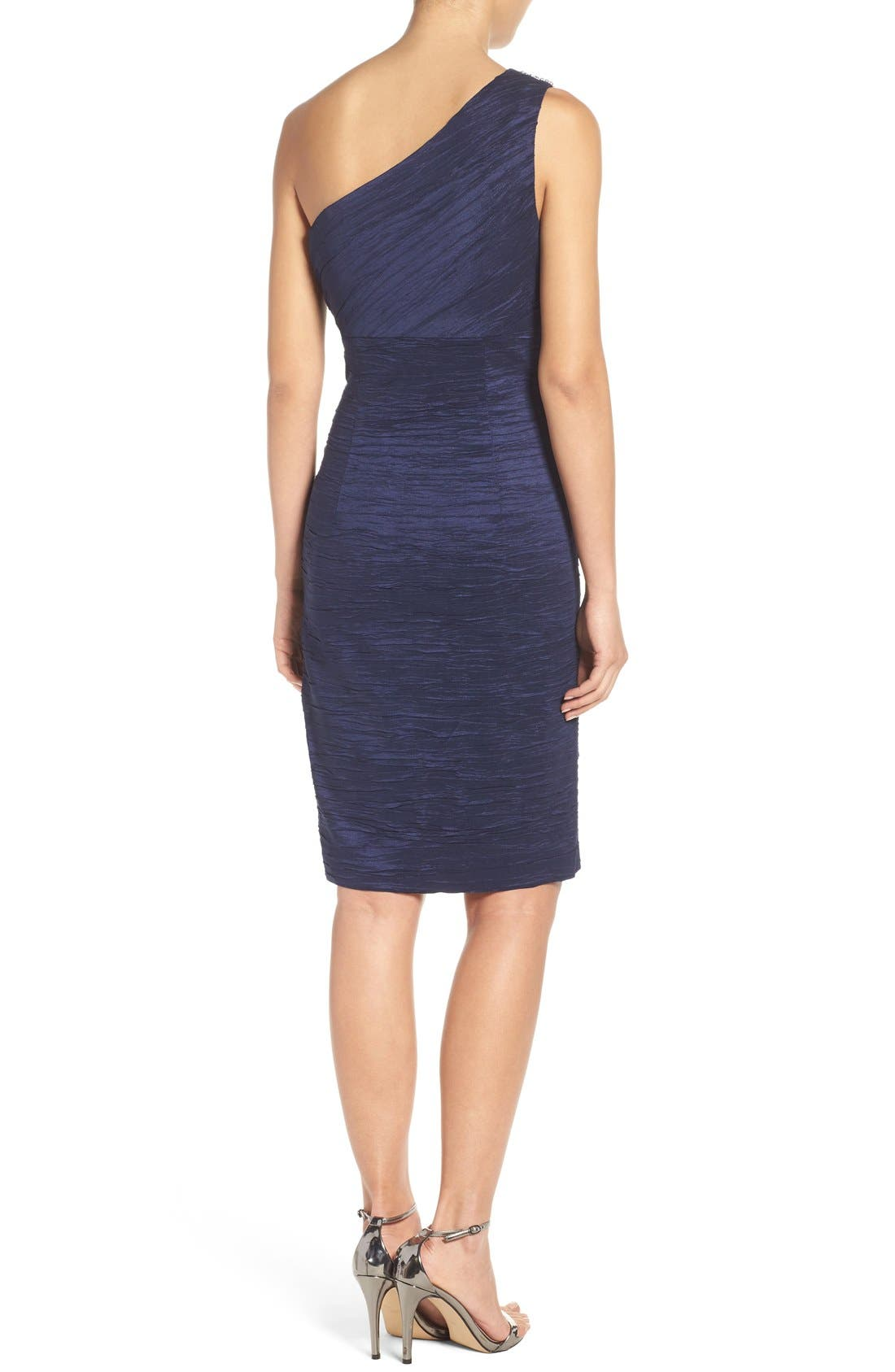 Alternate Image 2  - Eliza J Embellished Taffeta Sheath Dress (Regular & Petite)
