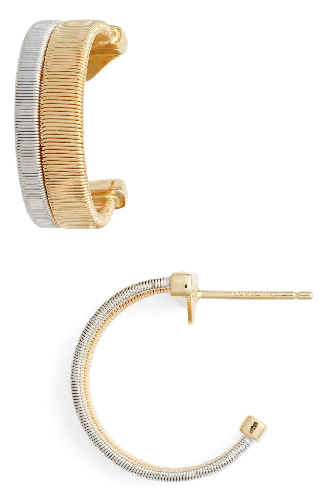 Coil Hoop Earrings,                         Main,                         color, Yellow Gold