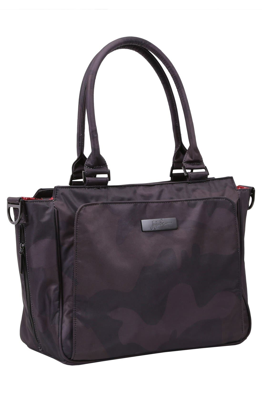 'Be Classy - Onyx Collection' Messenger Diaper Bag,                             Alternate thumbnail 5, color,                             Black Ops