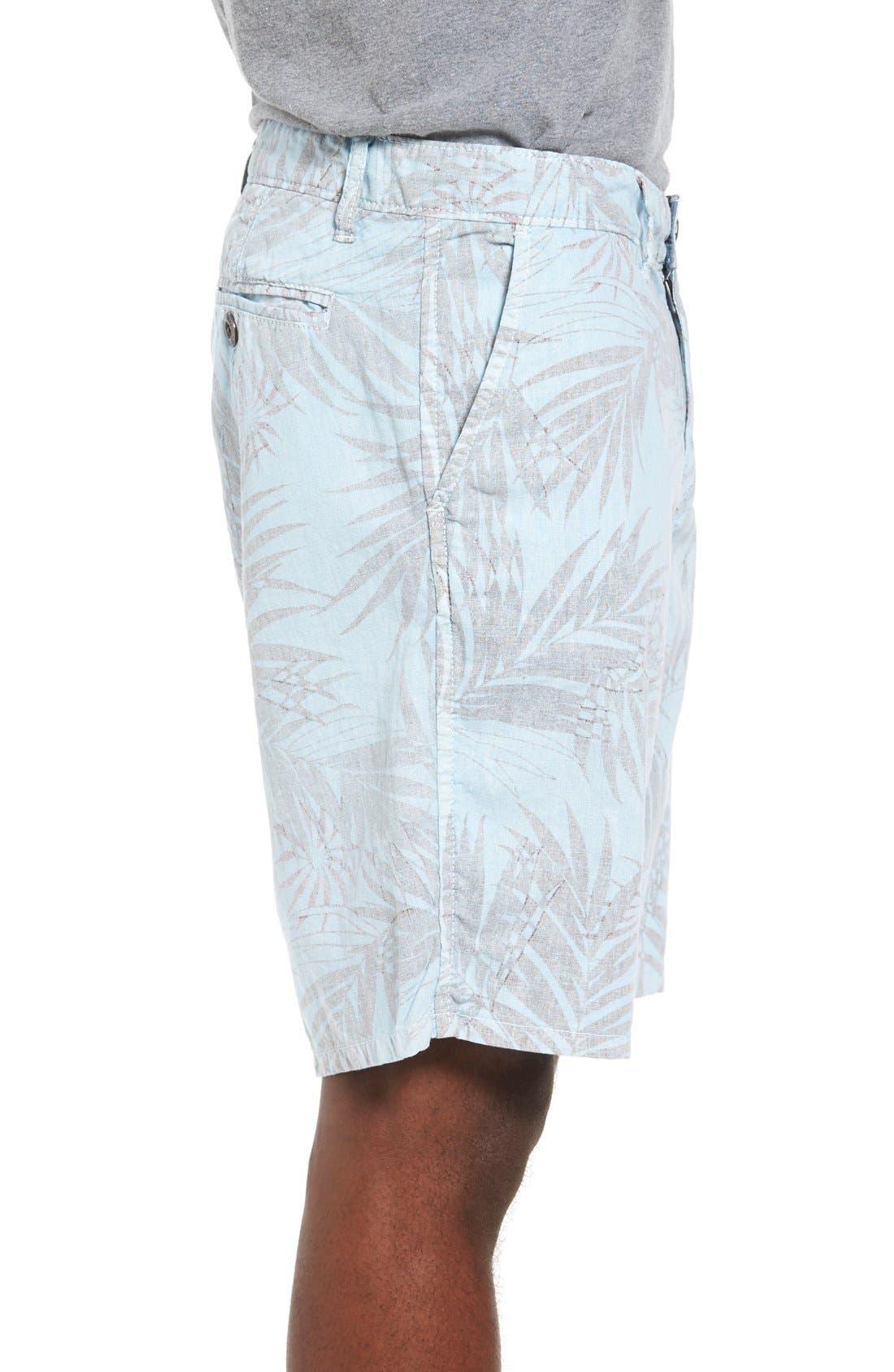 Rio Linen Shorts,                             Alternate thumbnail 3, color,                             Waterfall