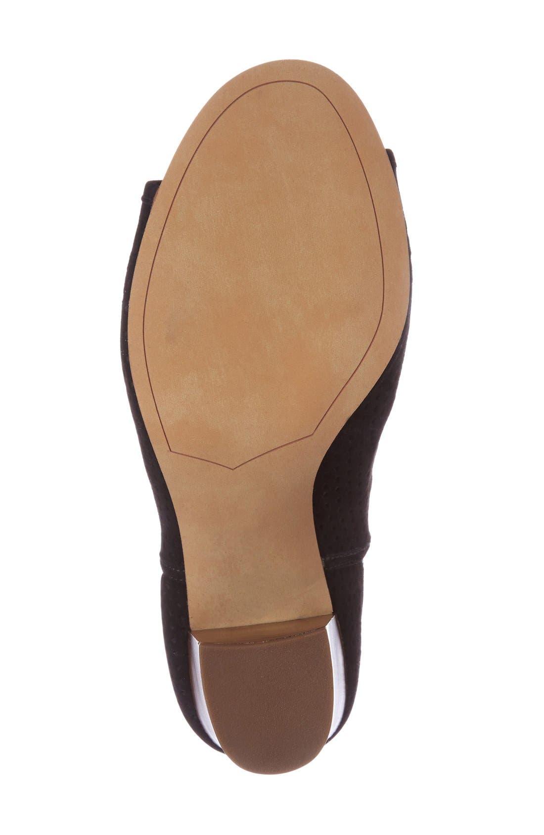 Alternate Image 4  - Sam Edelman Easton Perforated Open Toe Bootie (Women)