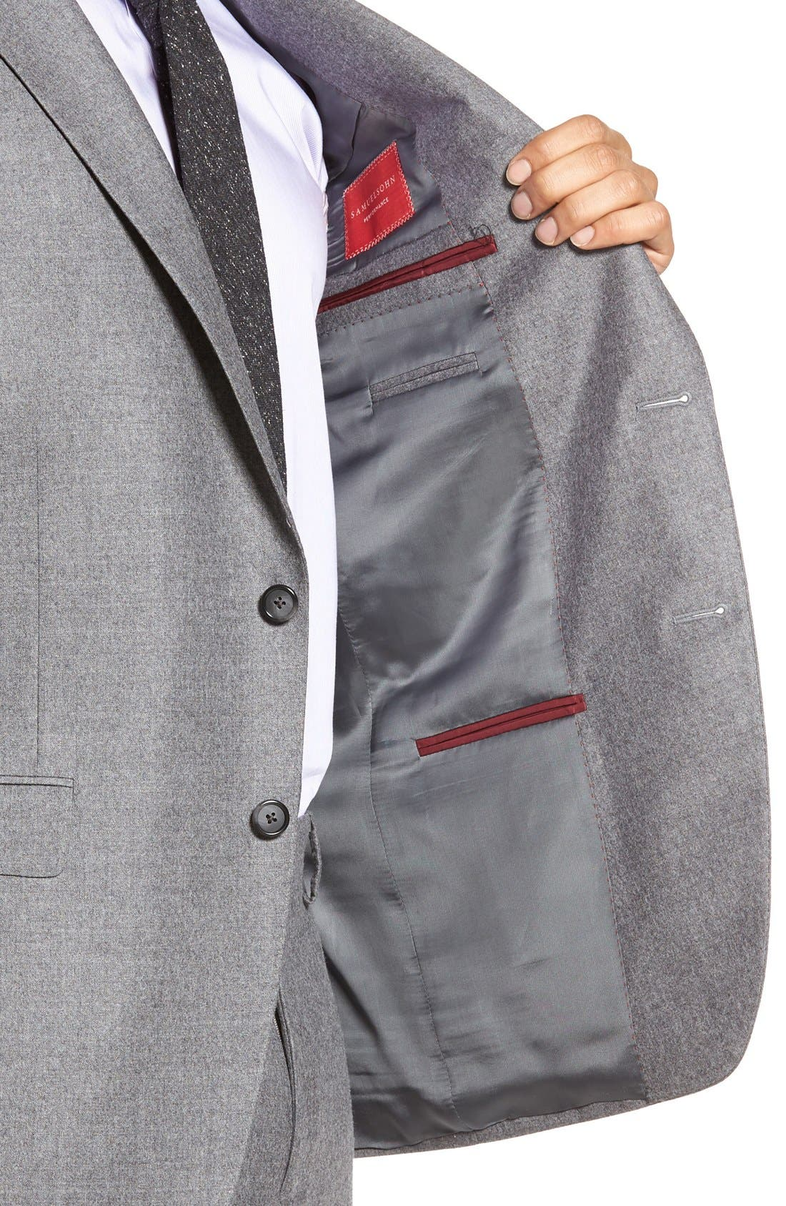 Beckett Classic Fit Solid Wool & Cashmere Suit,                             Alternate thumbnail 5, color,                             Light Grey