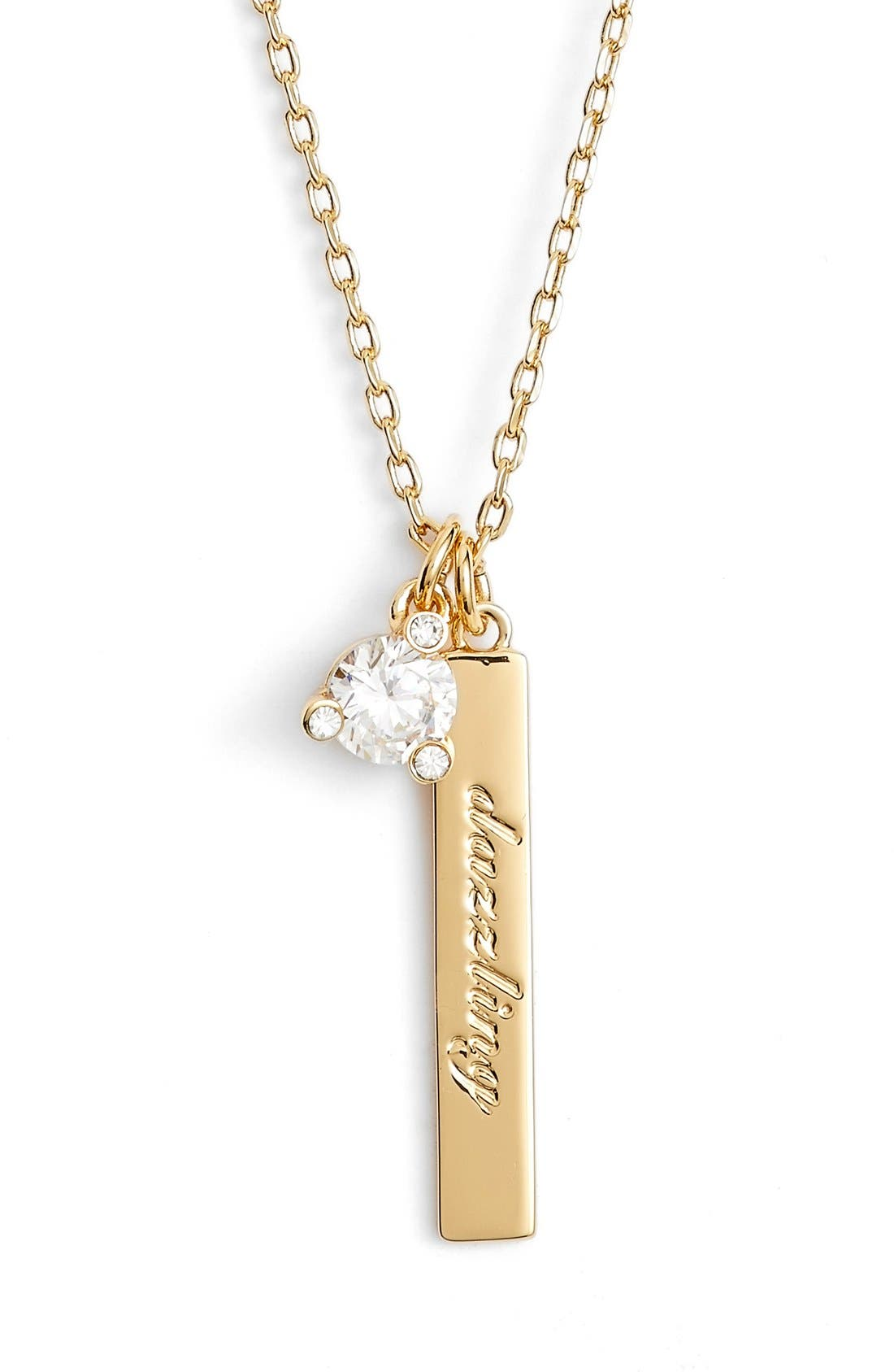 born to be pendant necklace,                         Main,                         color, Clear