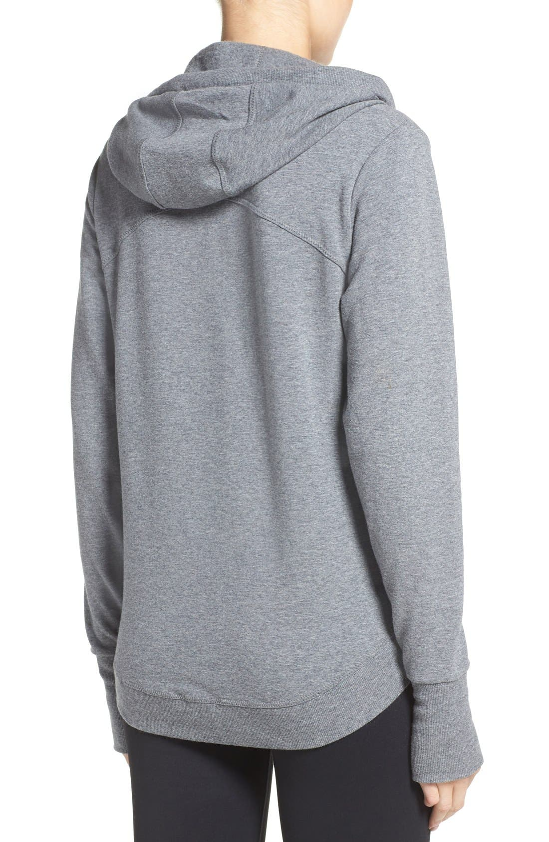 En Route Hoodie,                             Alternate thumbnail 2, color,                             Grey Dark Heather