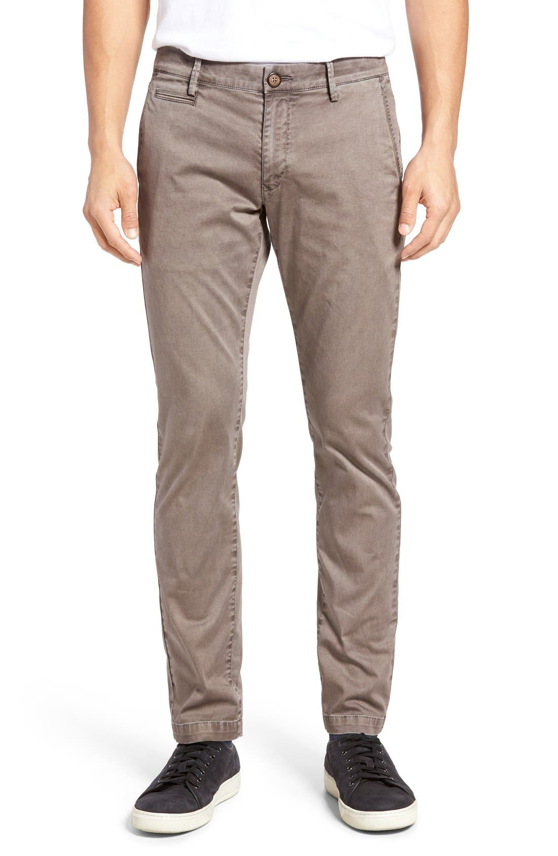 Enzyme Washed Chinos,                         Main,                         color, Grey